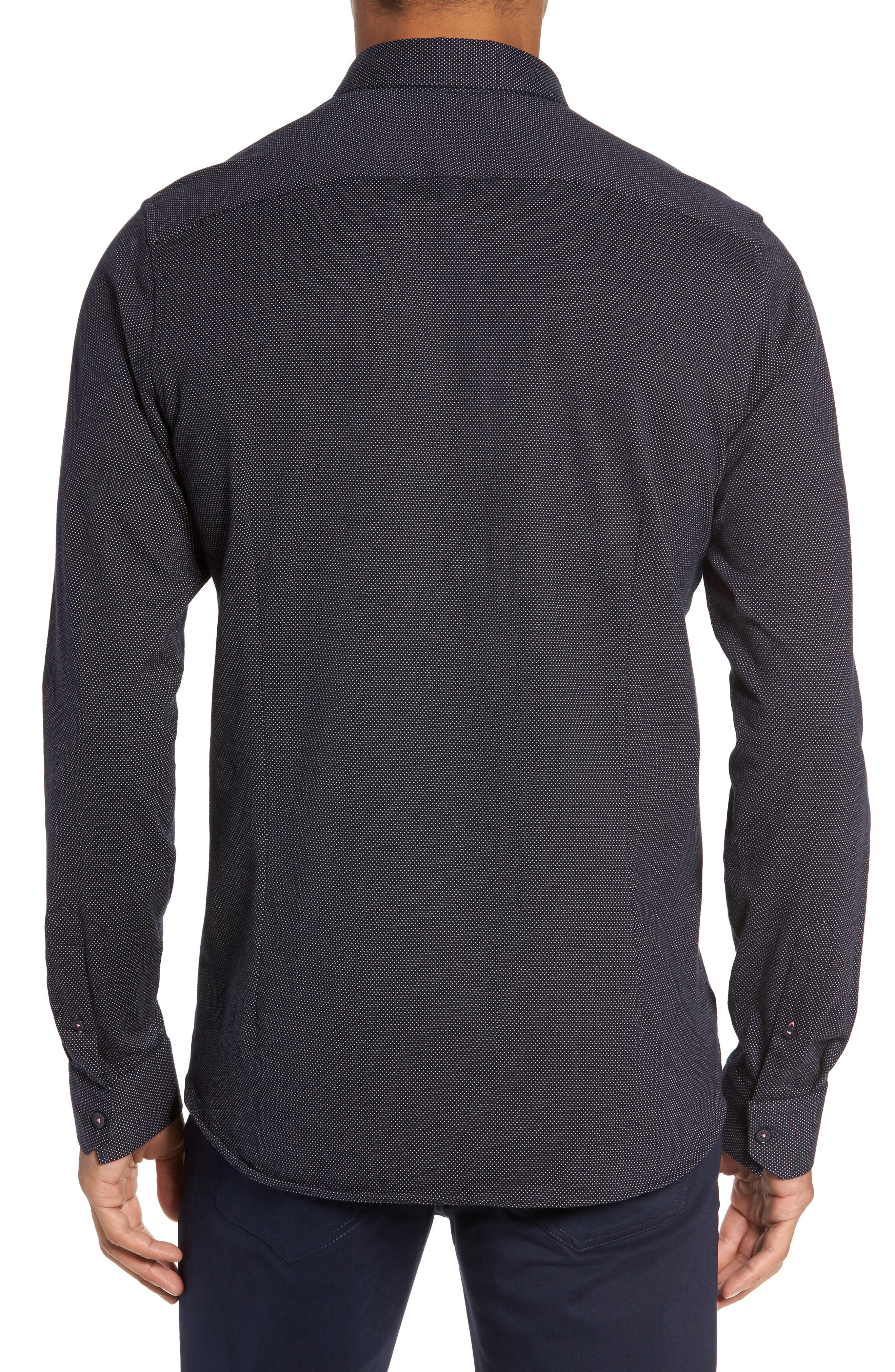 Slim Fit Microdot Sport Shirt,                             Alternate thumbnail 2, color,                             410