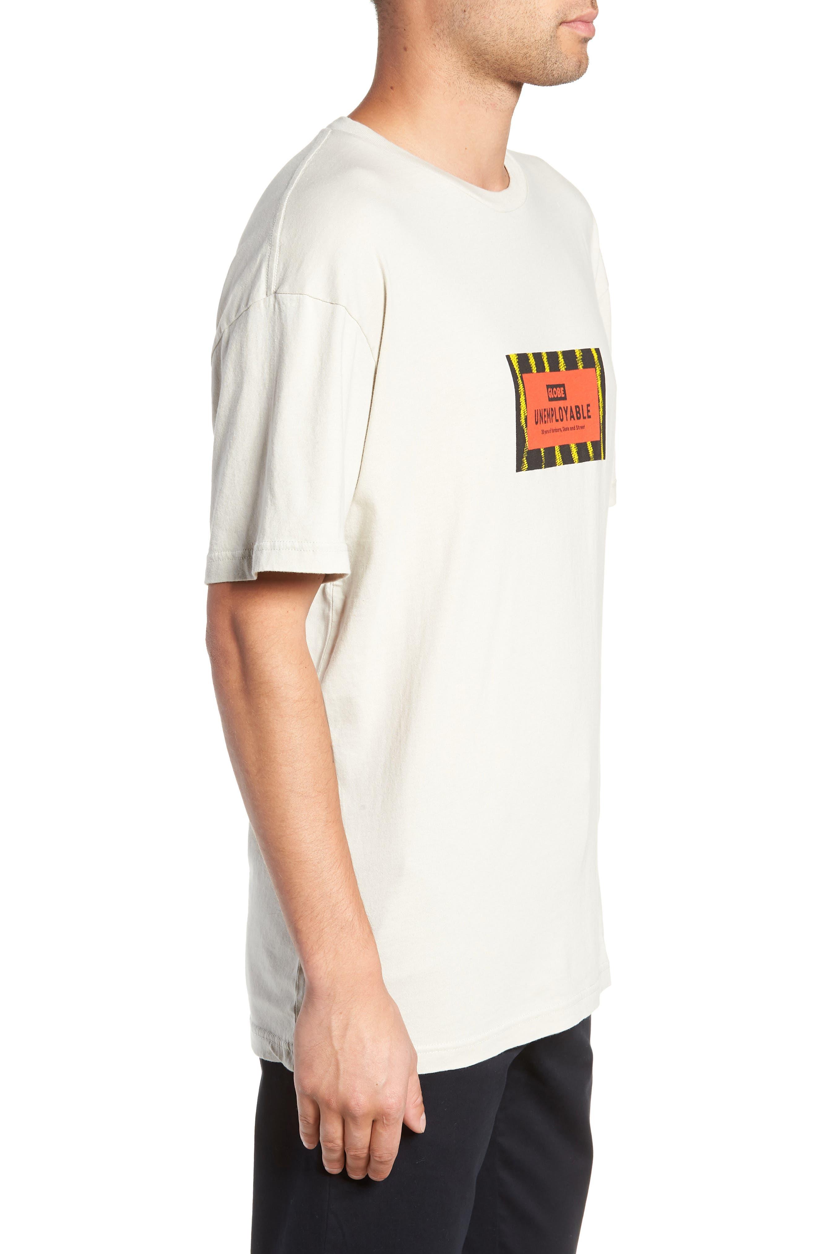 GLOBE,                             Unemployable Captain T-Shirt,                             Alternate thumbnail 3, color,                             900