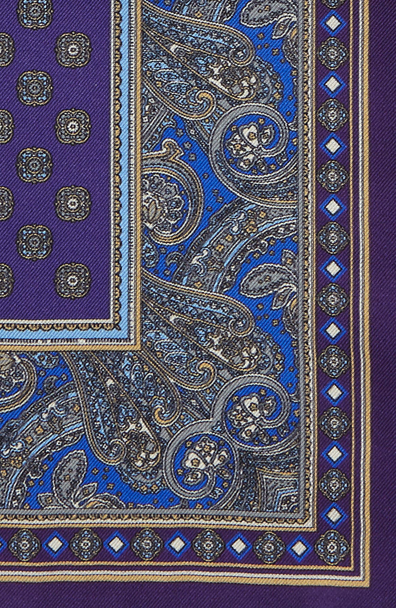 Paisley Silk Pocket Square,                             Alternate thumbnail 3, color,                             500