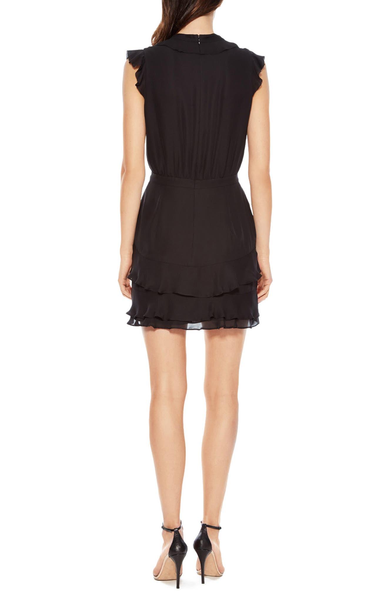 Tangia Silk Dress,                             Alternate thumbnail 2, color,                             BLACK