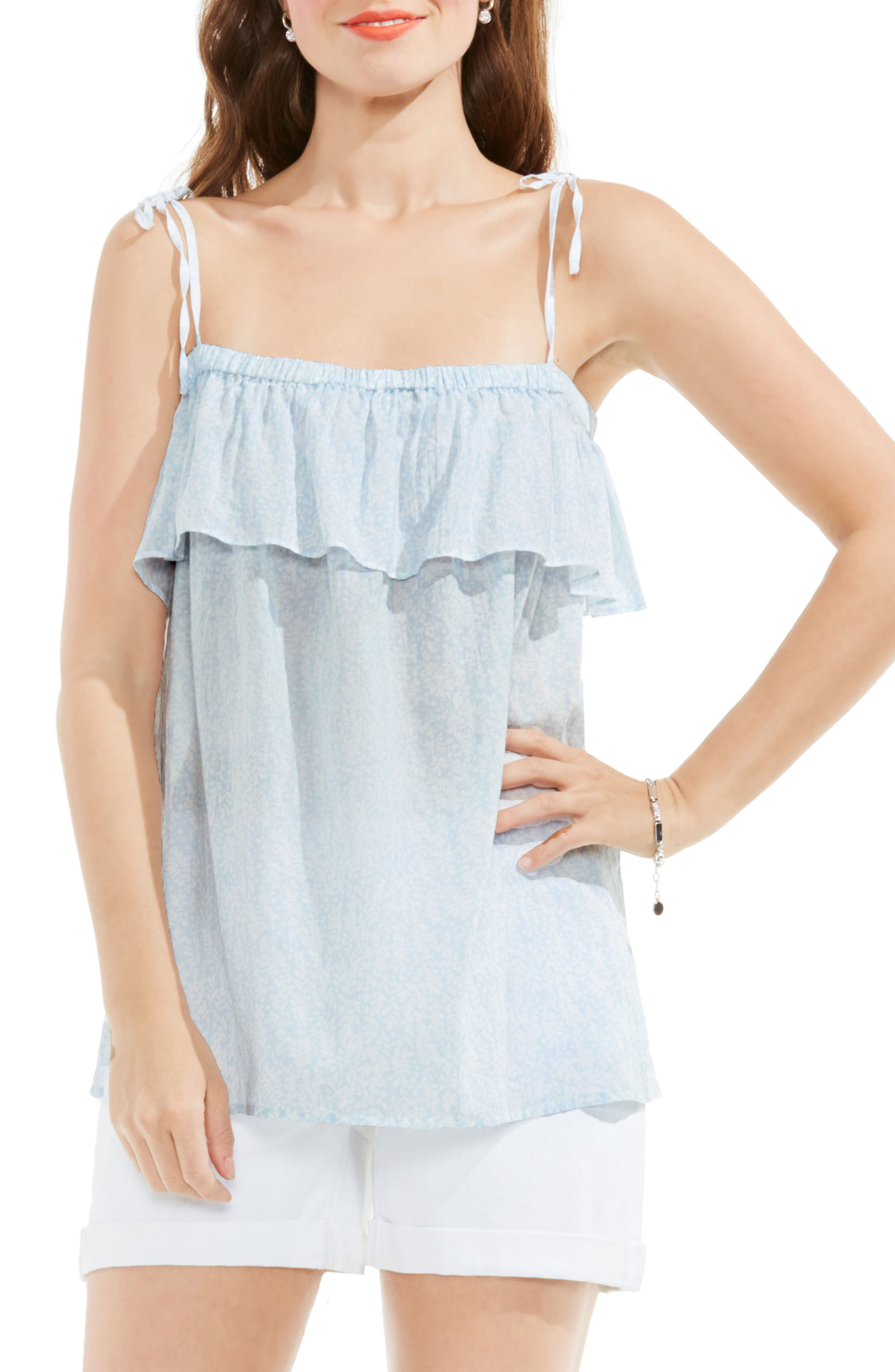 Floral Print Sleeveless Top,                         Main,                         color, 457