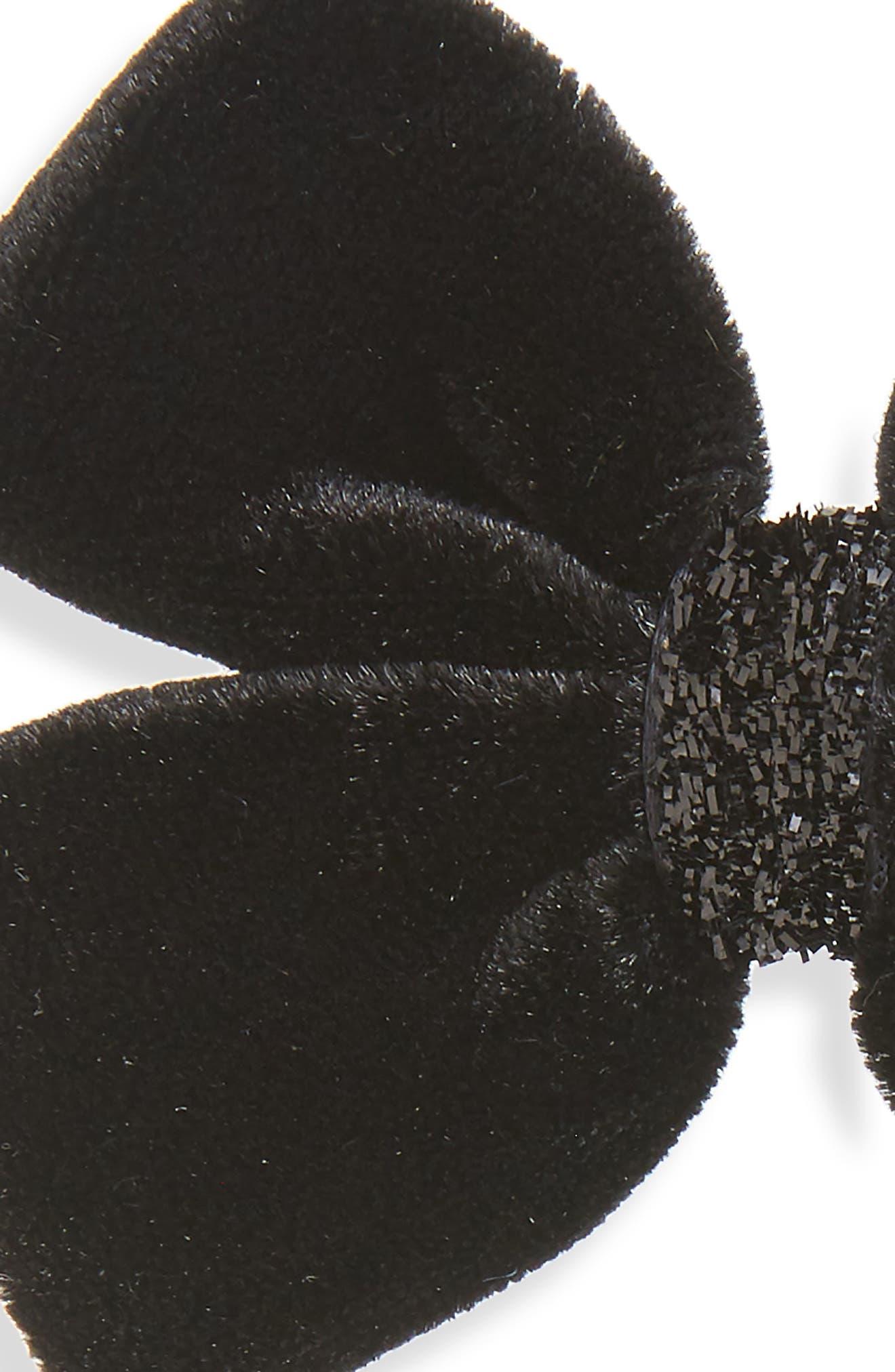2-Pack Velvet Bow Clips,                             Alternate thumbnail 2, color,                             010