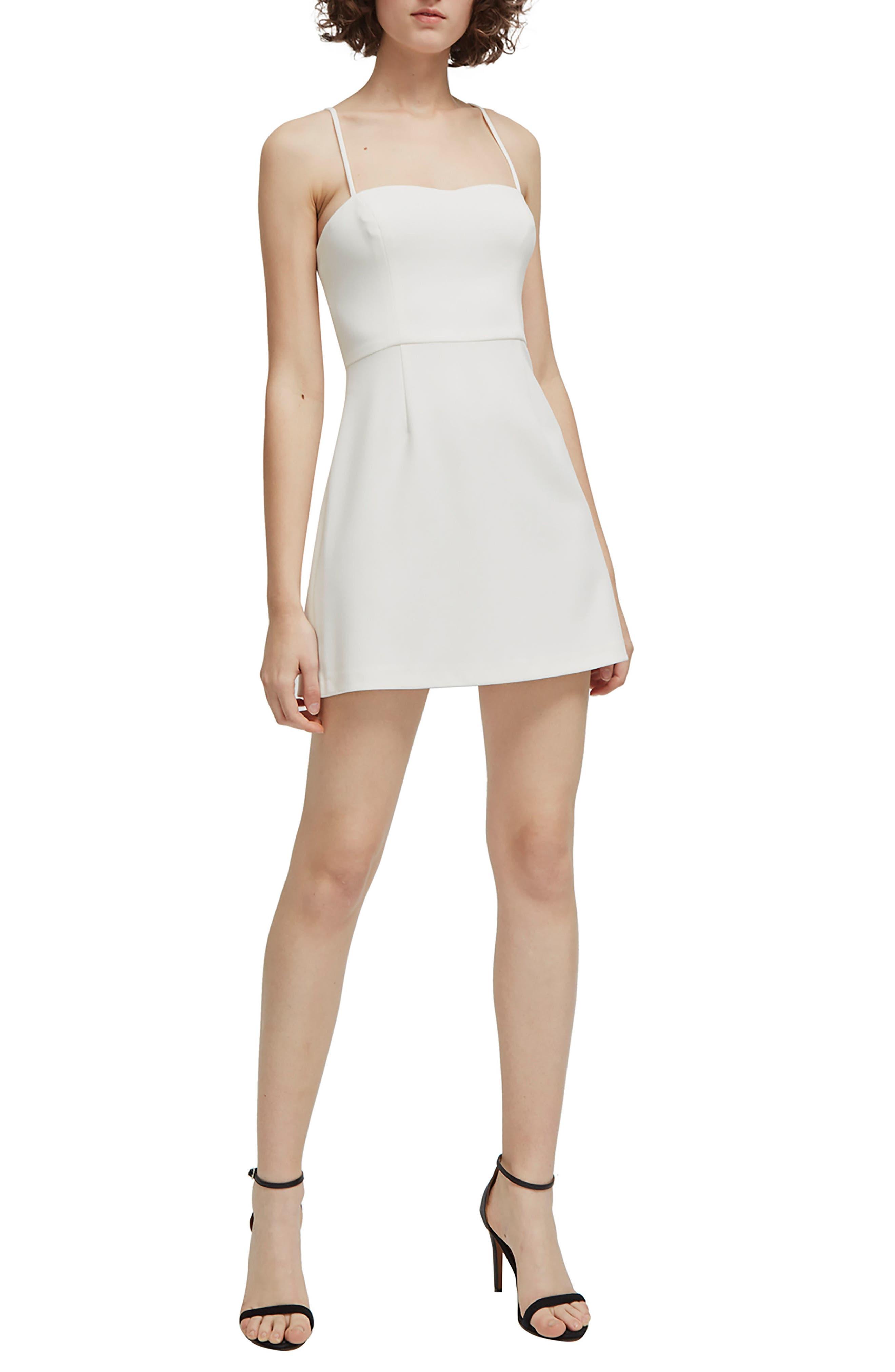 French Connection Whisper Light Sweetheart Minidress, White
