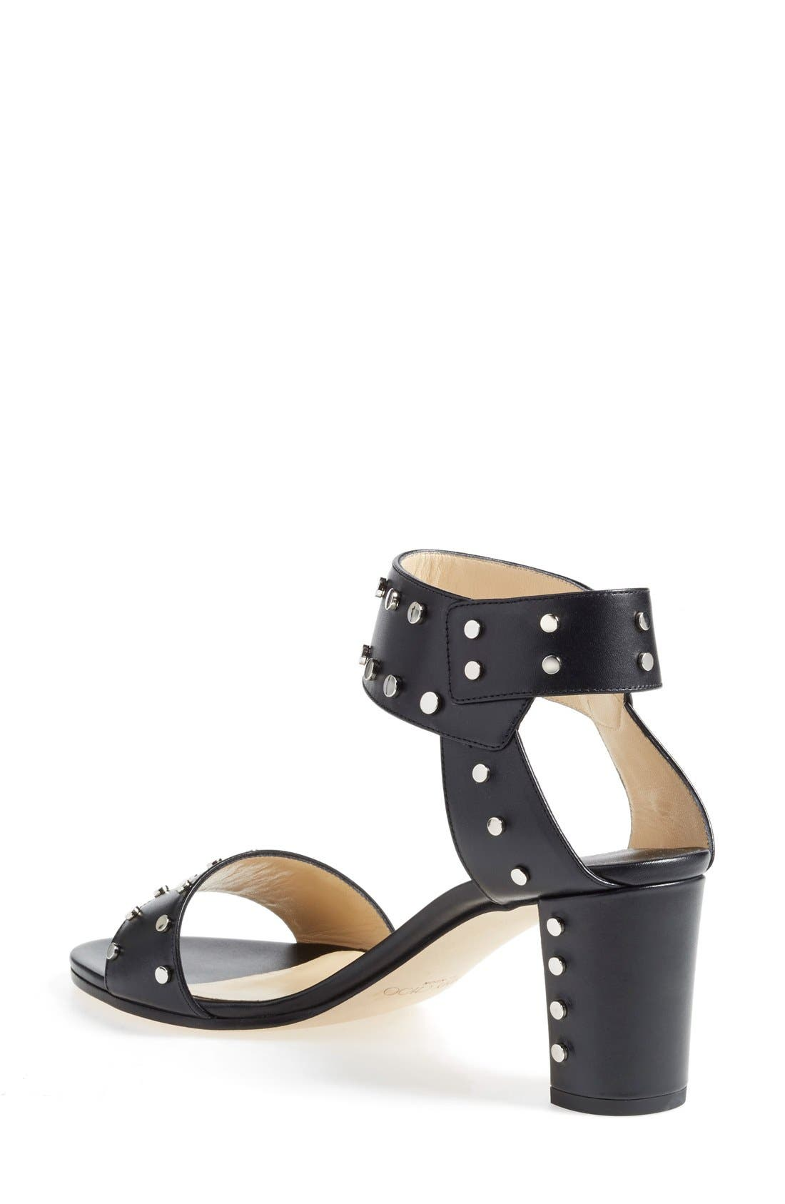 'Veto' Studded Sandal,                             Alternate thumbnail 2, color,                             001
