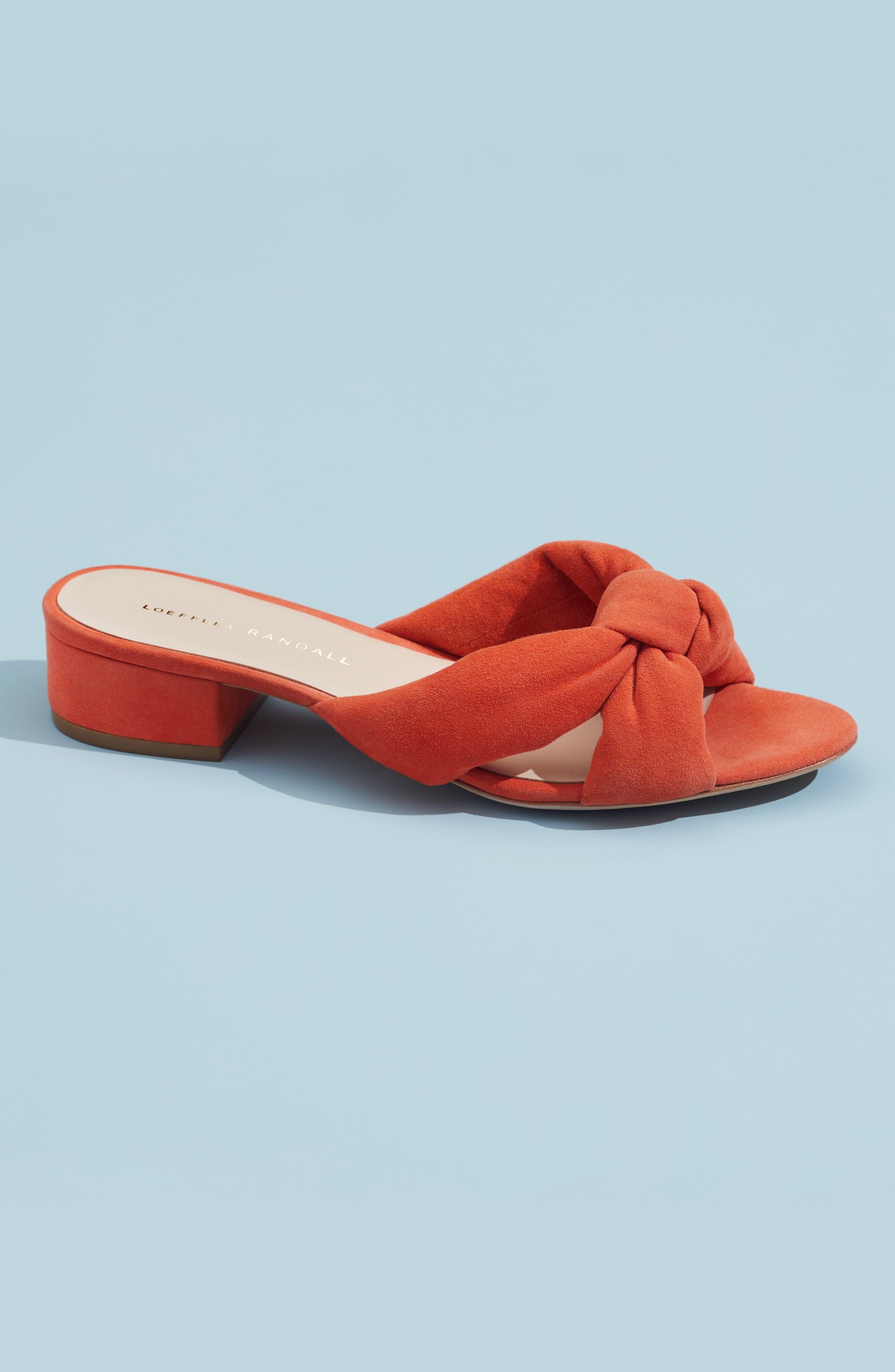 Elsie Knotted Slide Sandal,                             Alternate thumbnail 7, color,                             040
