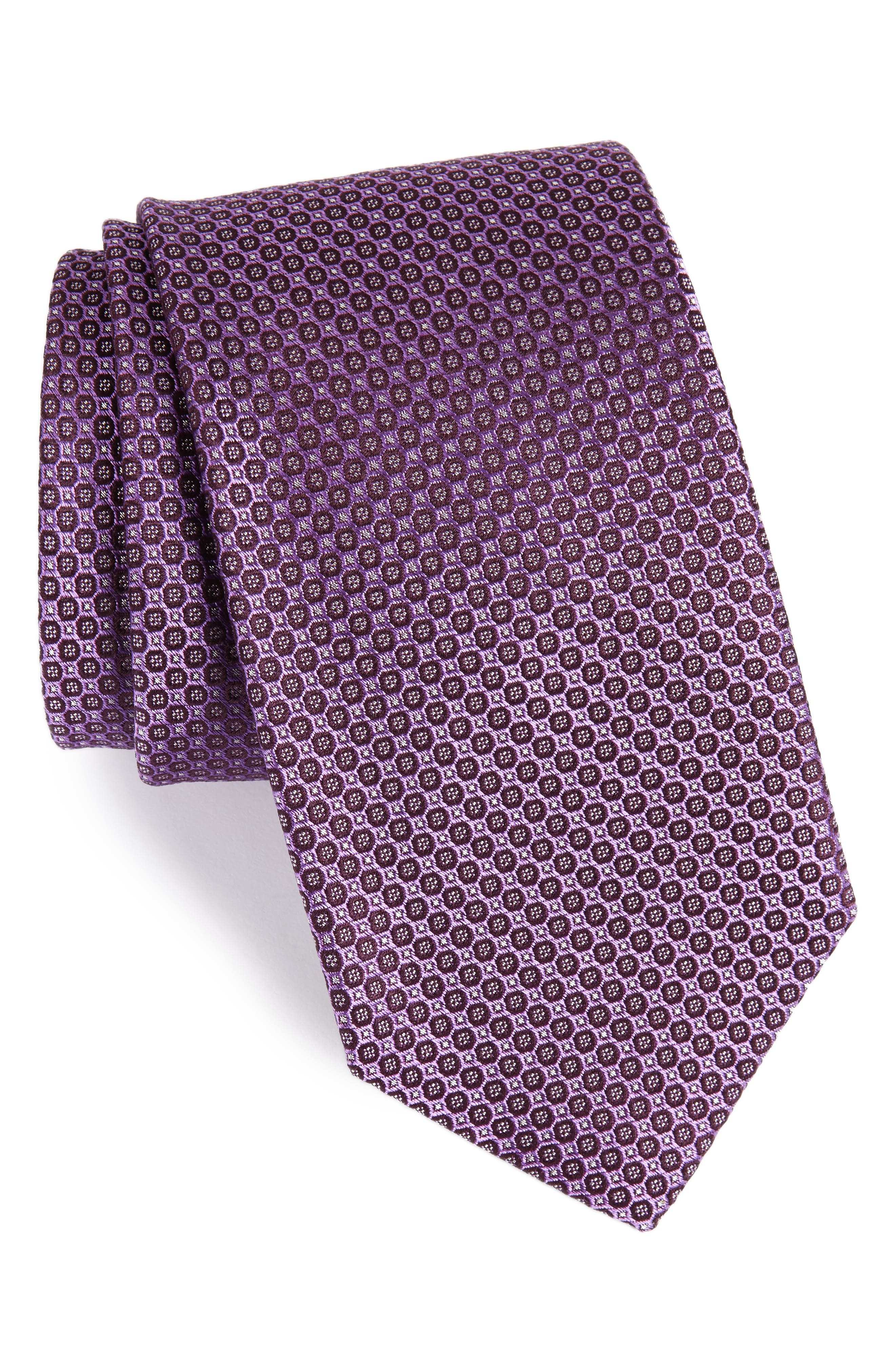 Park Ave Solid Silk Tie,                             Main thumbnail 4, color,