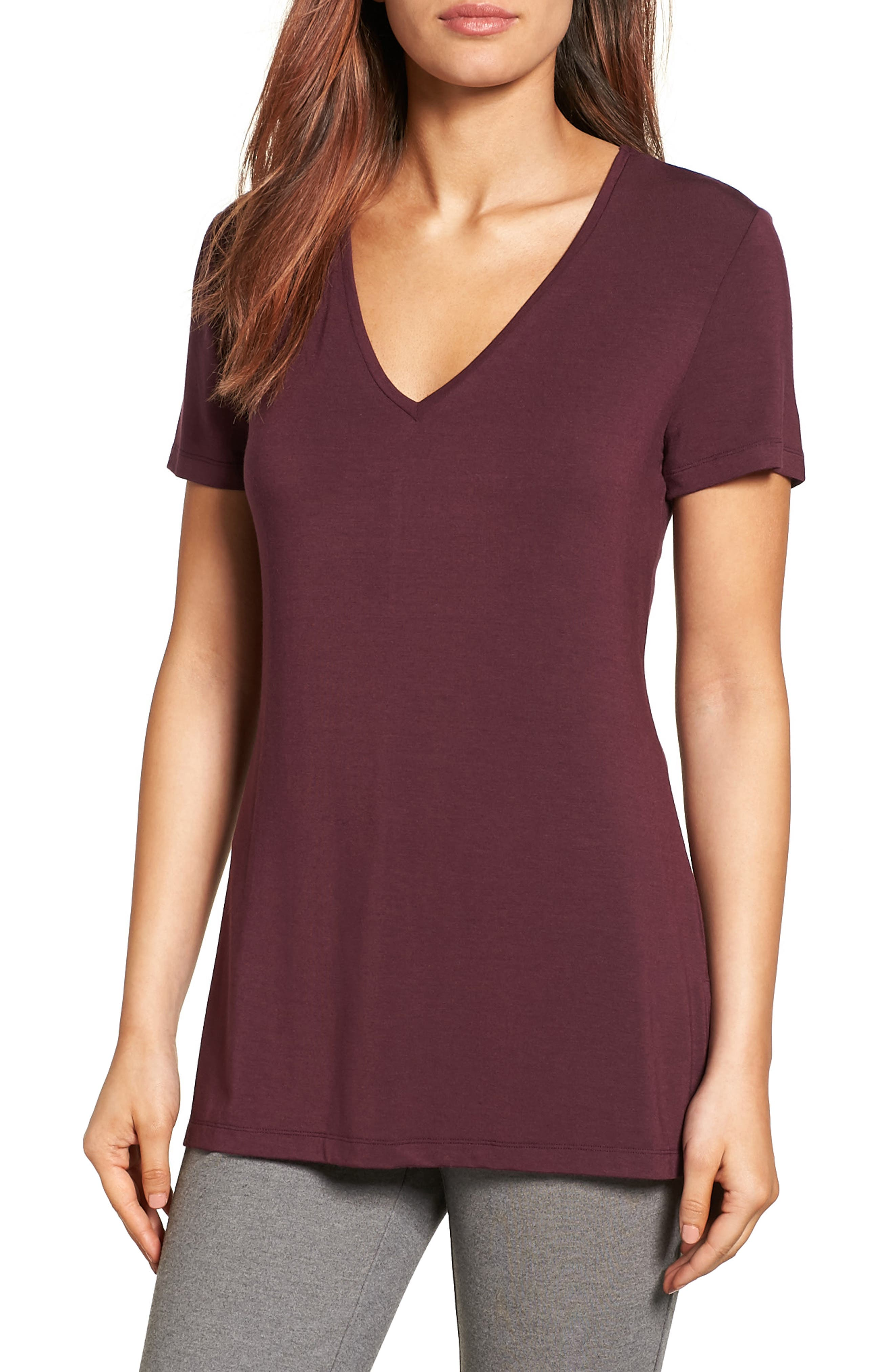 V-Neck Tunic Tee,                             Main thumbnail 12, color,