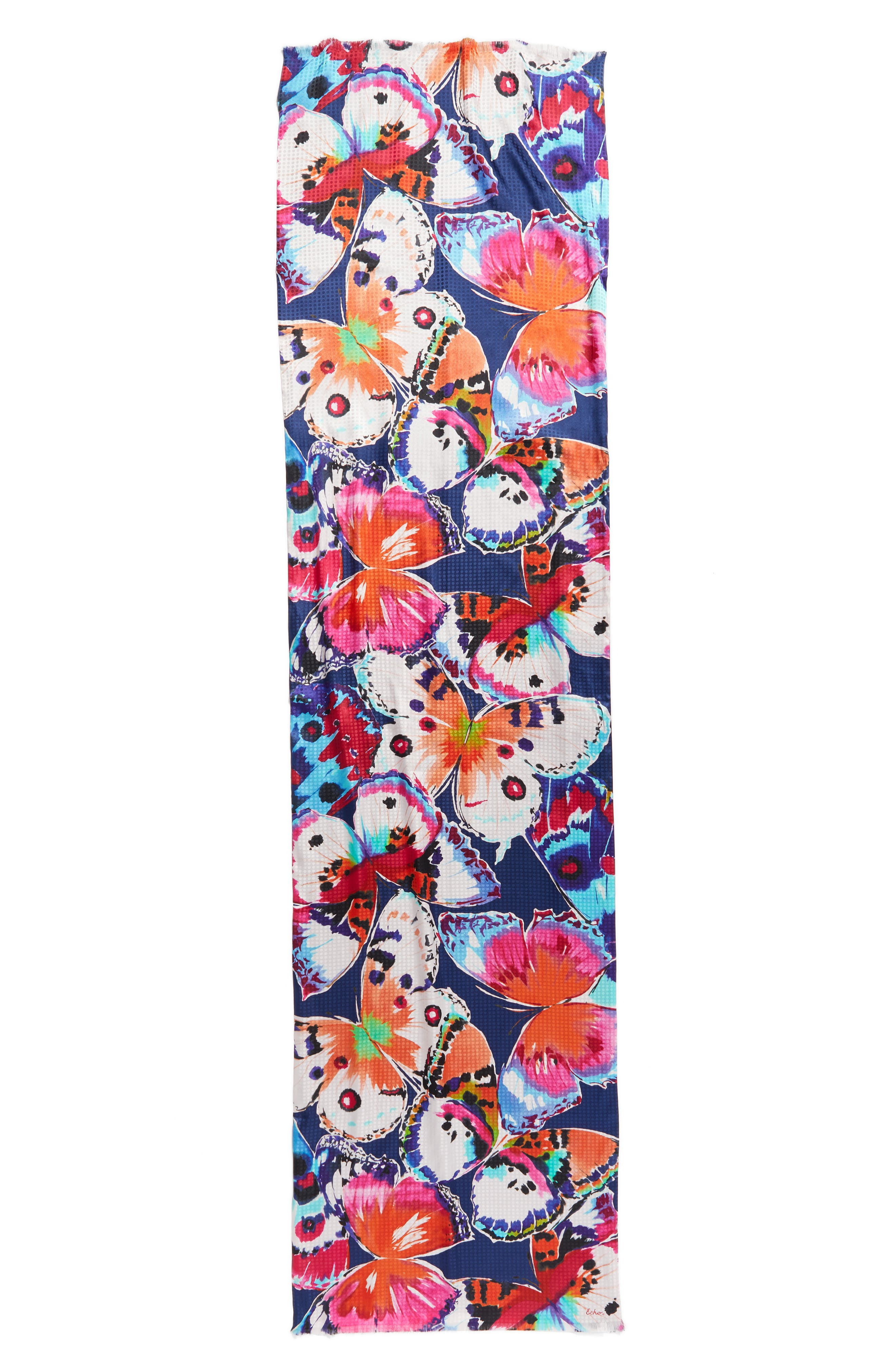 Flutter Silk Scarf,                             Alternate thumbnail 2, color,                             400