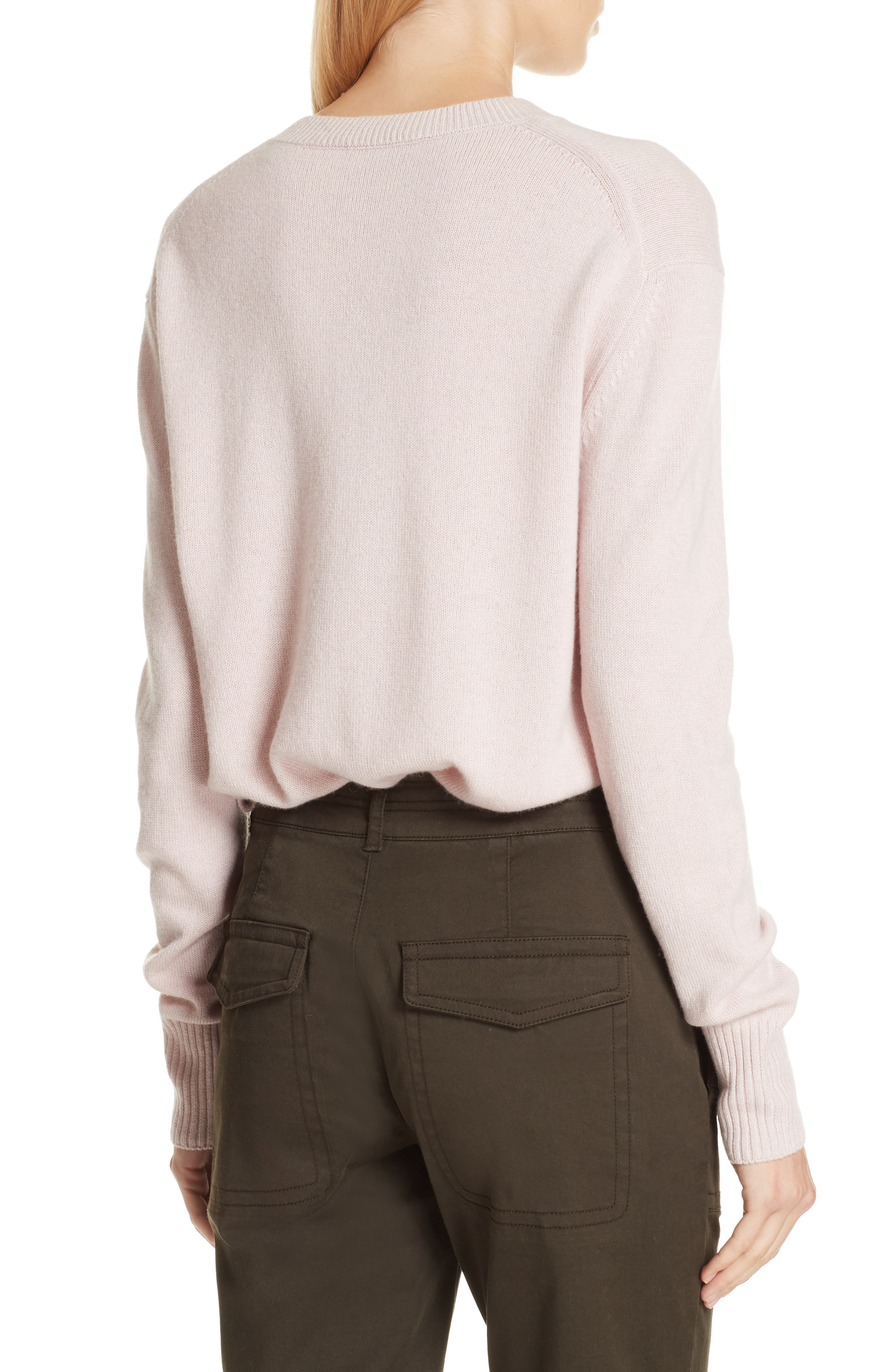 Asymmetrical Cashmere Sweater,                             Alternate thumbnail 2, color,                             CHERRY BLOSSOM