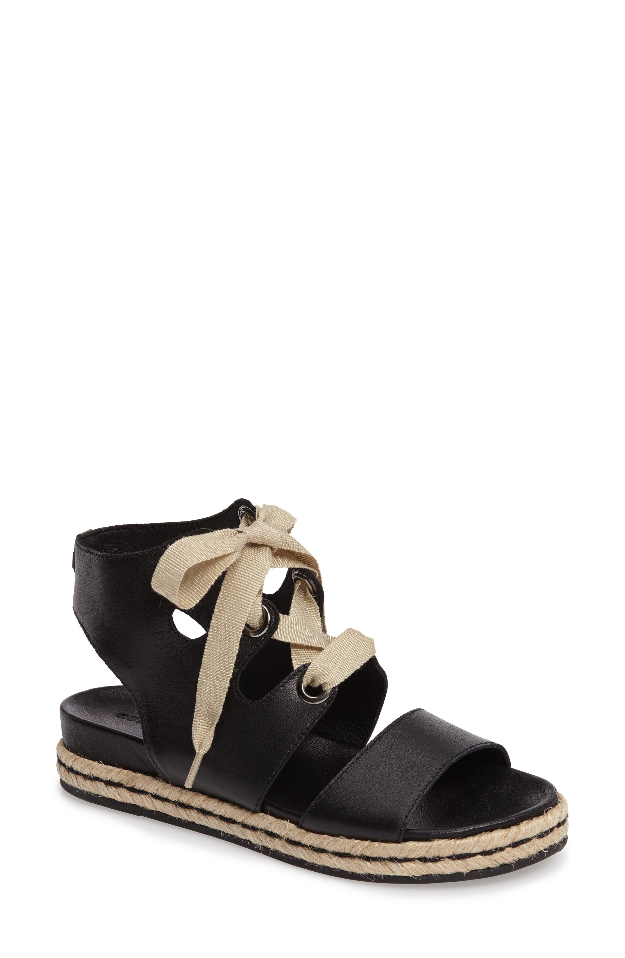 Baptista Lace-Up Sandal,                         Main,                         color, 001