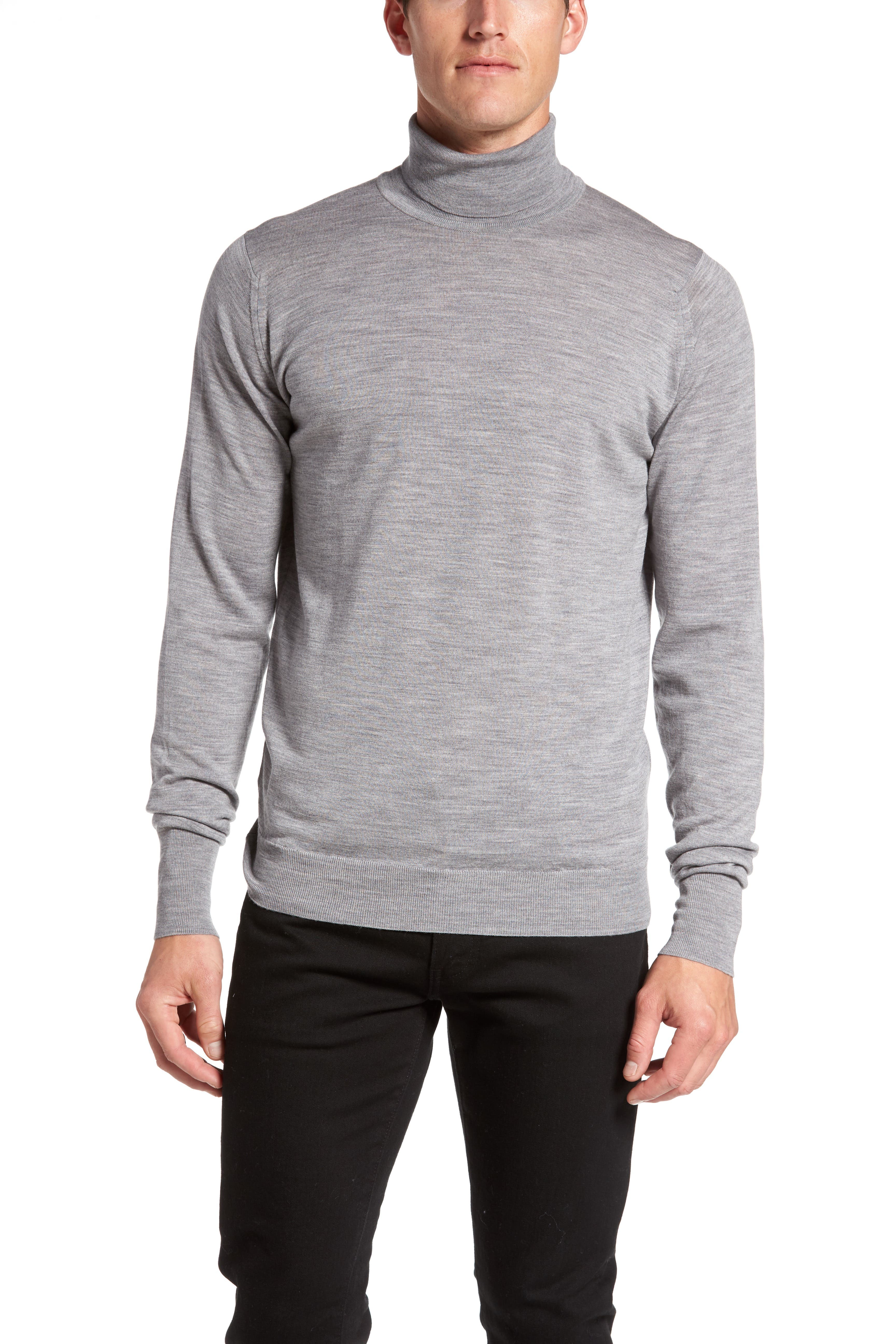 'Richards' Easy Fit Turtleneck Wool Sweater,                             Alternate thumbnail 14, color,