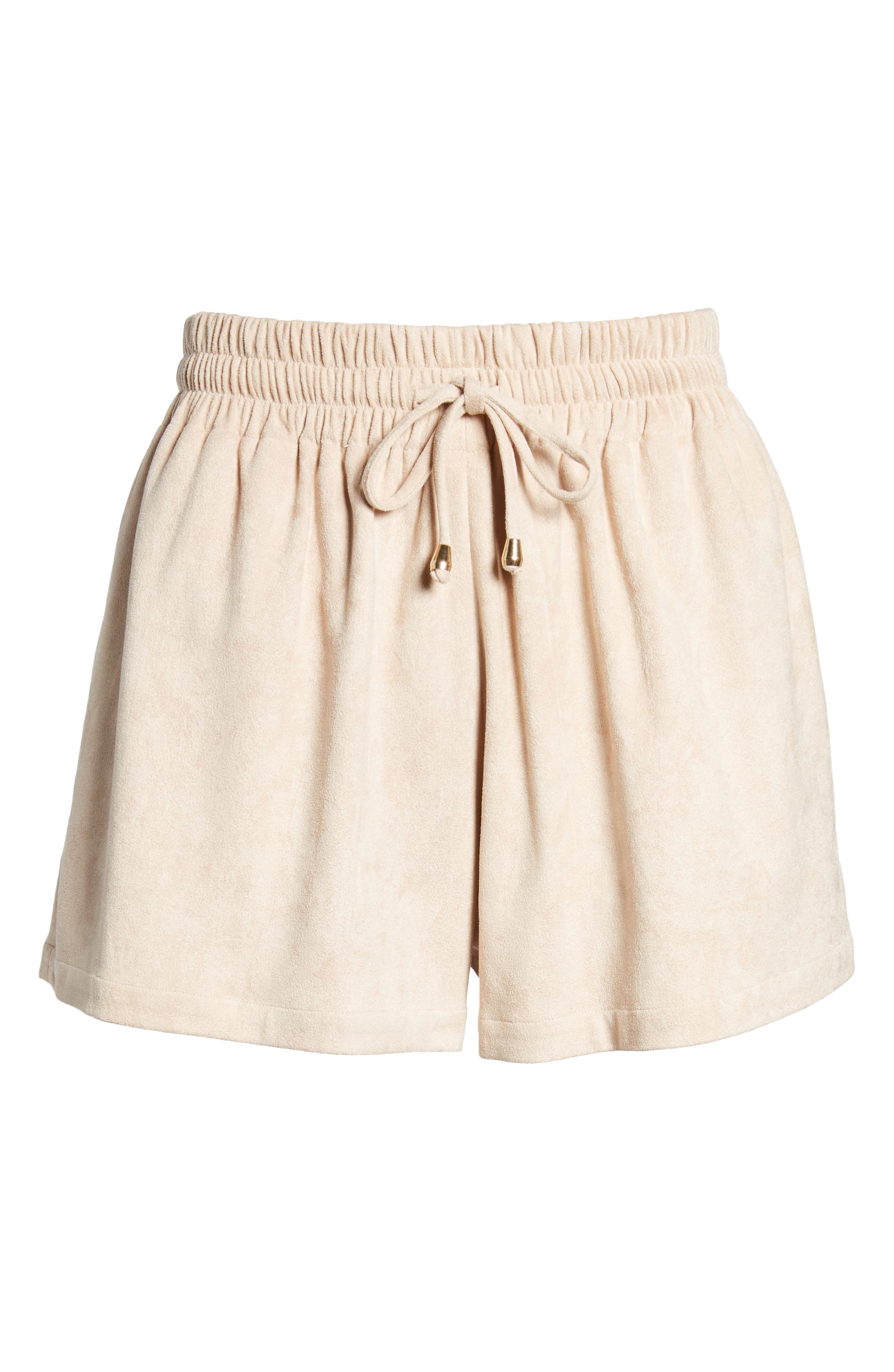 Bishop + Young Faux Suede Shorts,                             Alternate thumbnail 6, color,                             650