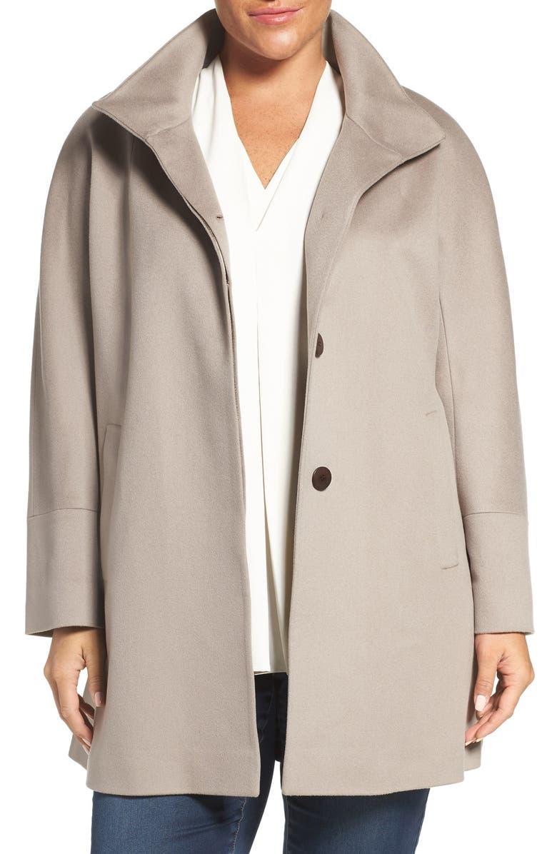 bd5ef126c1460 Fleurette Loro Piana Wool Car Coat (Plus Size)