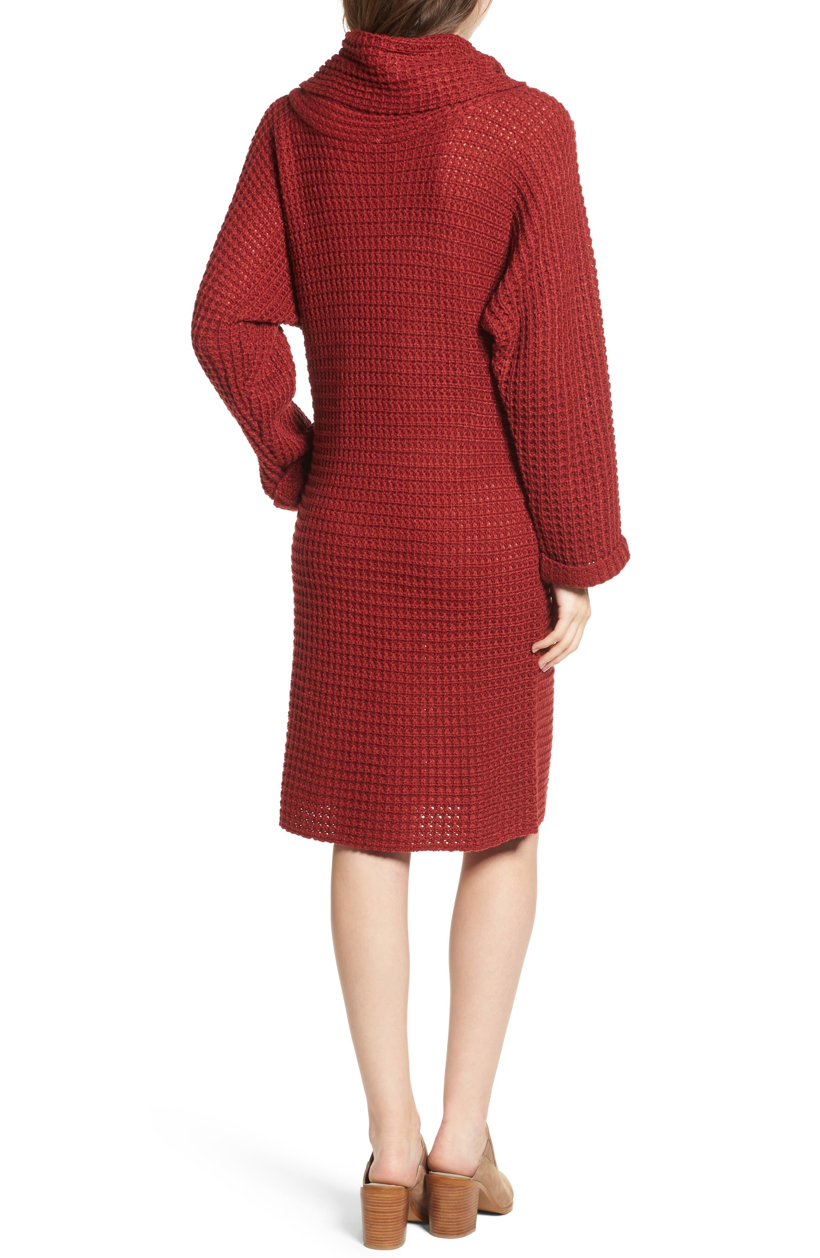 Turtleneck Sweater Dress,                             Alternate thumbnail 4, color,
