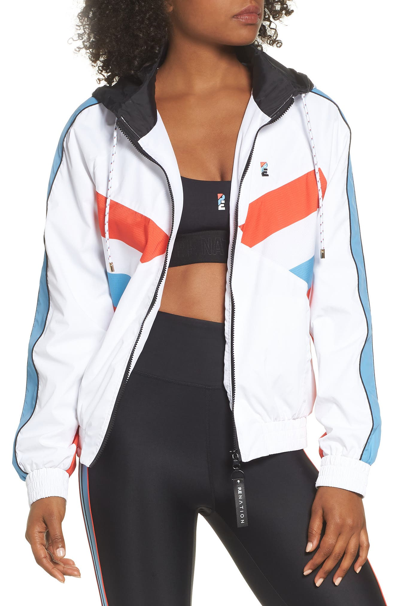 P.E. Nation The Ruck Jacket,                         Main,                         color, WHITE