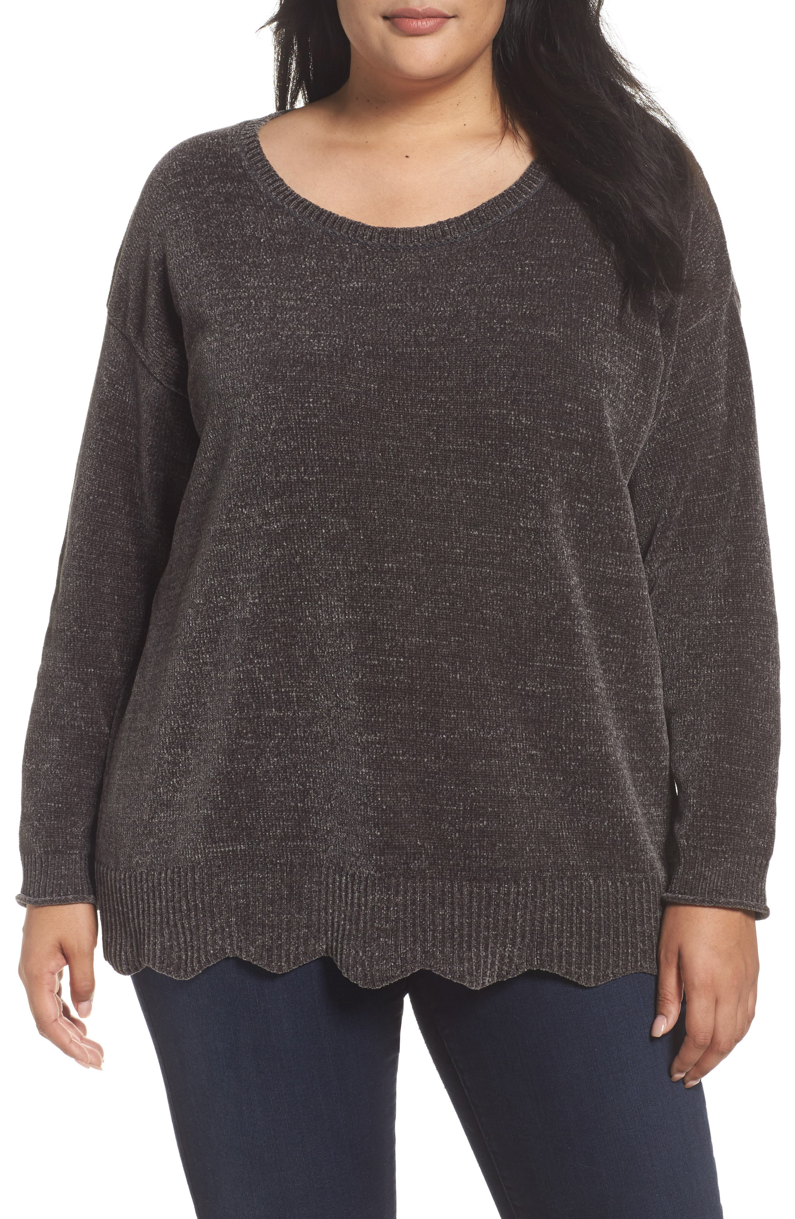 Scallop Hem Sweater,                             Main thumbnail 1, color,                             021