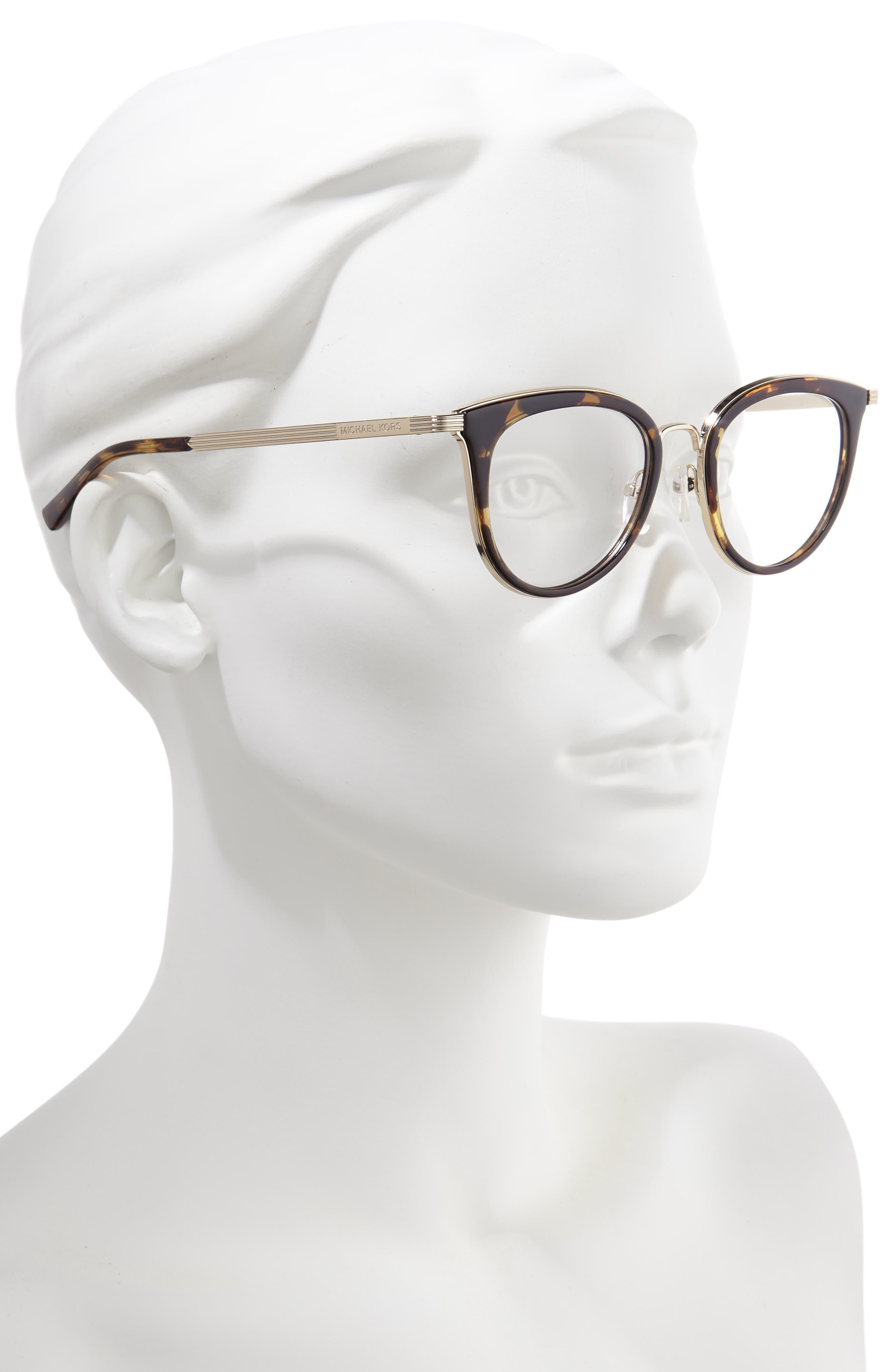 50mm Optical Glasses,                             Alternate thumbnail 2, color,                             HAVANA/ LITE GOLD