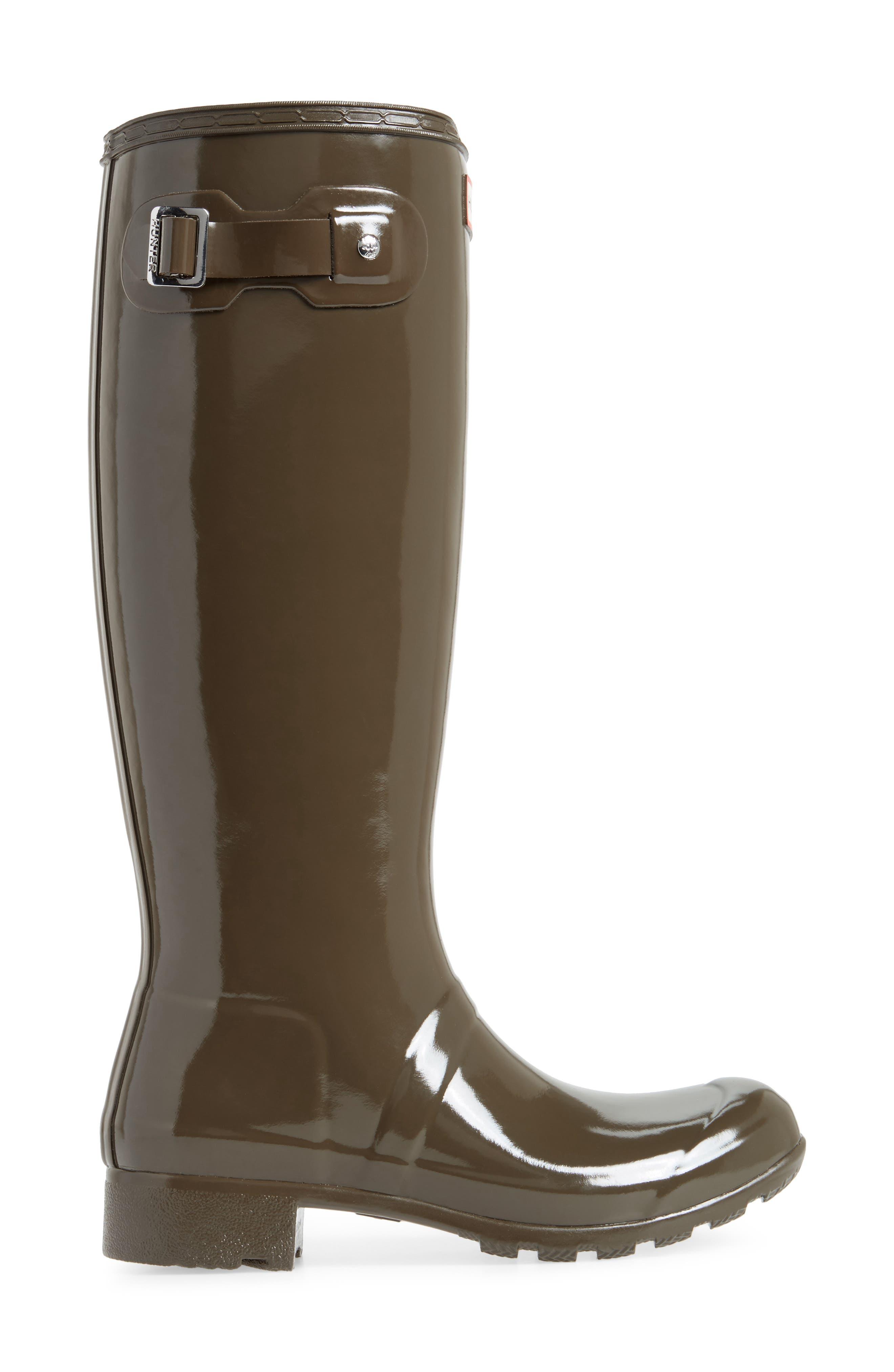 Original Tour Gloss Packable Rain Boot,                             Alternate thumbnail 3, color,                             304