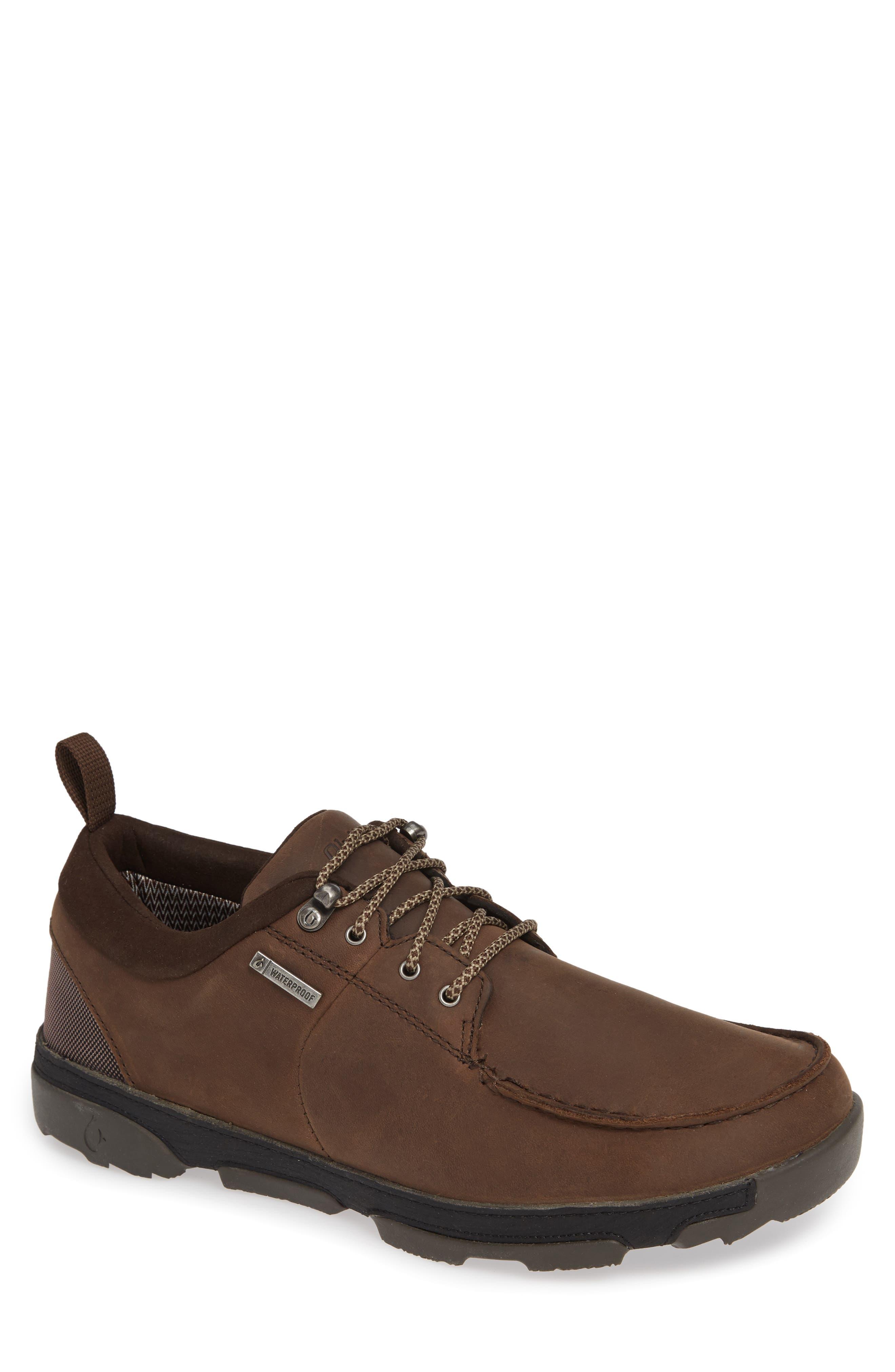 Makoa Waterproof Shoe,                         Main,                         color, ESPRESSO/ BLACK LEATHER