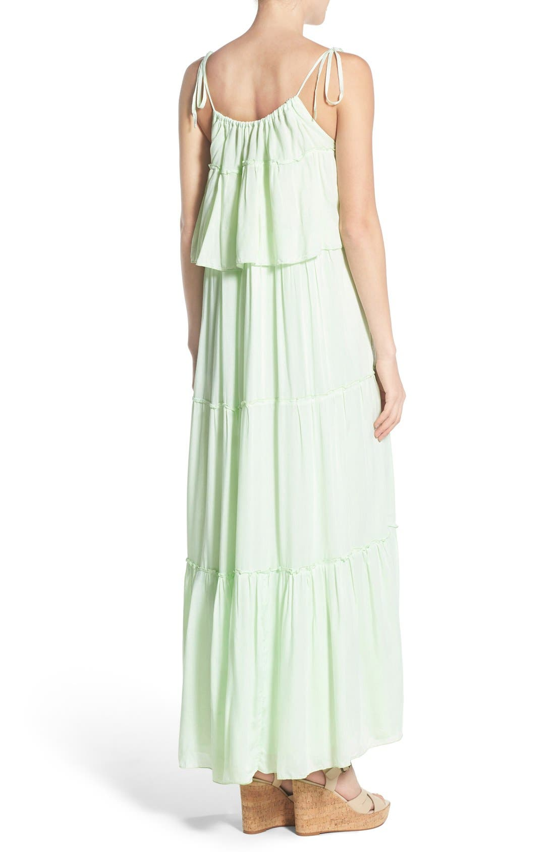 'Songbird' Popover Maternity/Nursing Maxi Dress,                             Alternate thumbnail 4, color,                             MINT