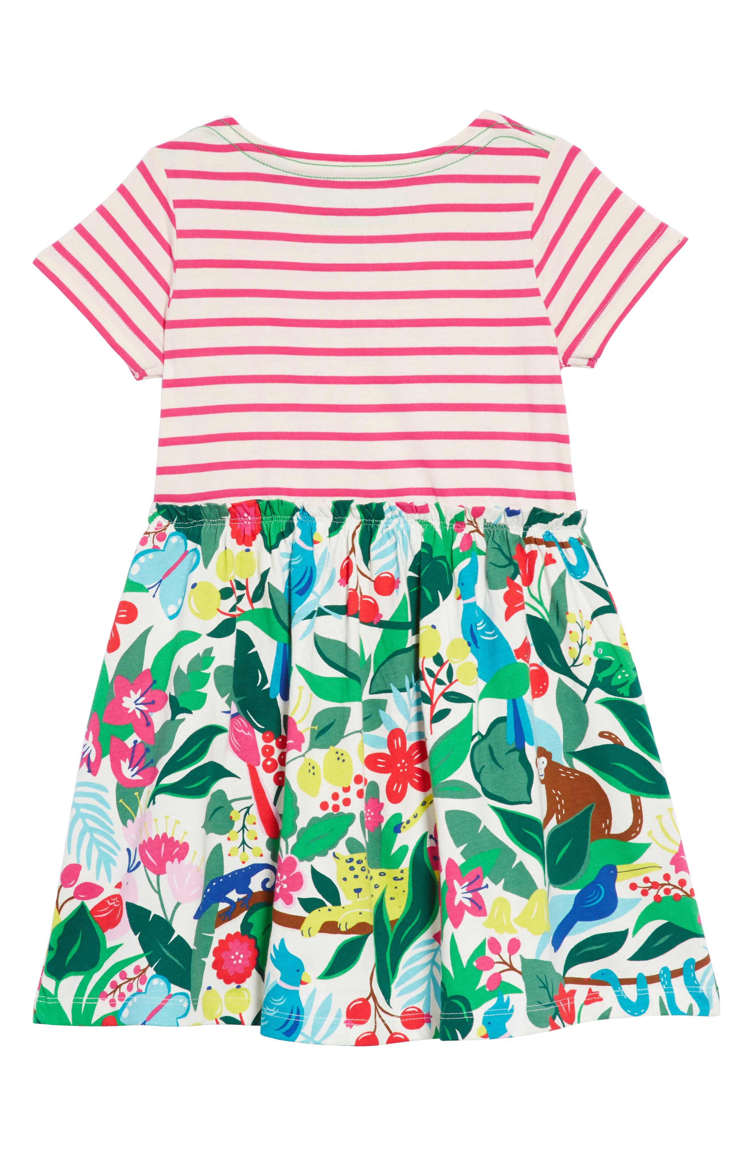 MINI BODEN,                             Bright Hotchpotch Jersey Dress,                             Alternate thumbnail 2, color,                             901