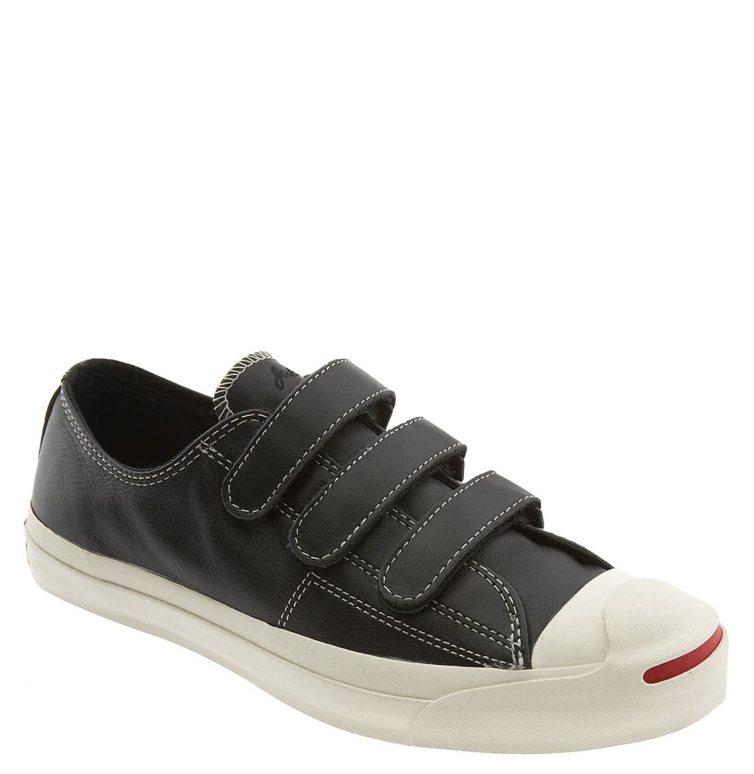 CONVERSE,                             'Jack Purcell' Velcro<sup>®</sup> Sneaker,                             Main thumbnail 1, color,                             001