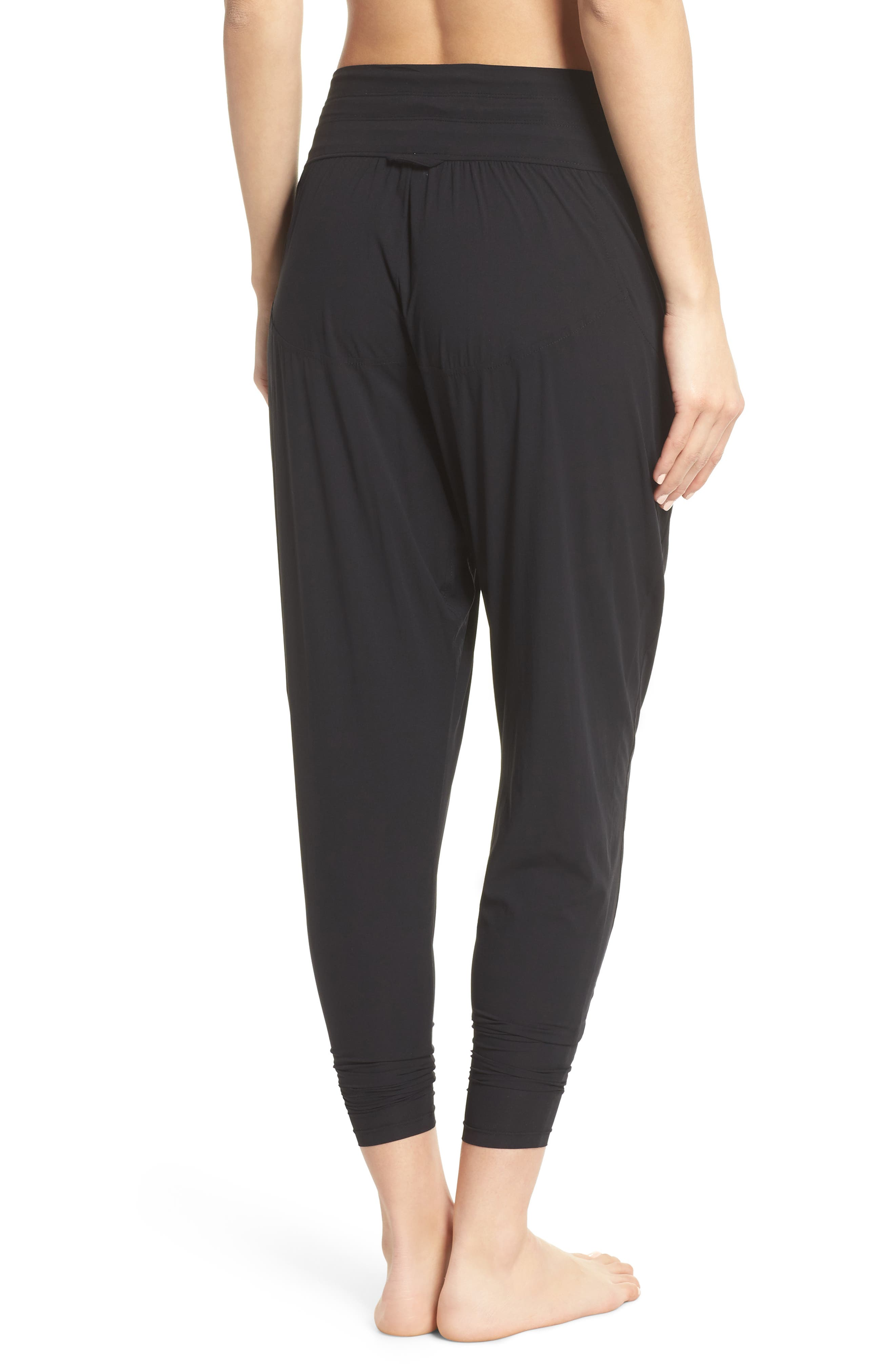 FREE PEOPLE MOVEMENT,                             Cardio Harem Pants,                             Alternate thumbnail 2, color,                             001