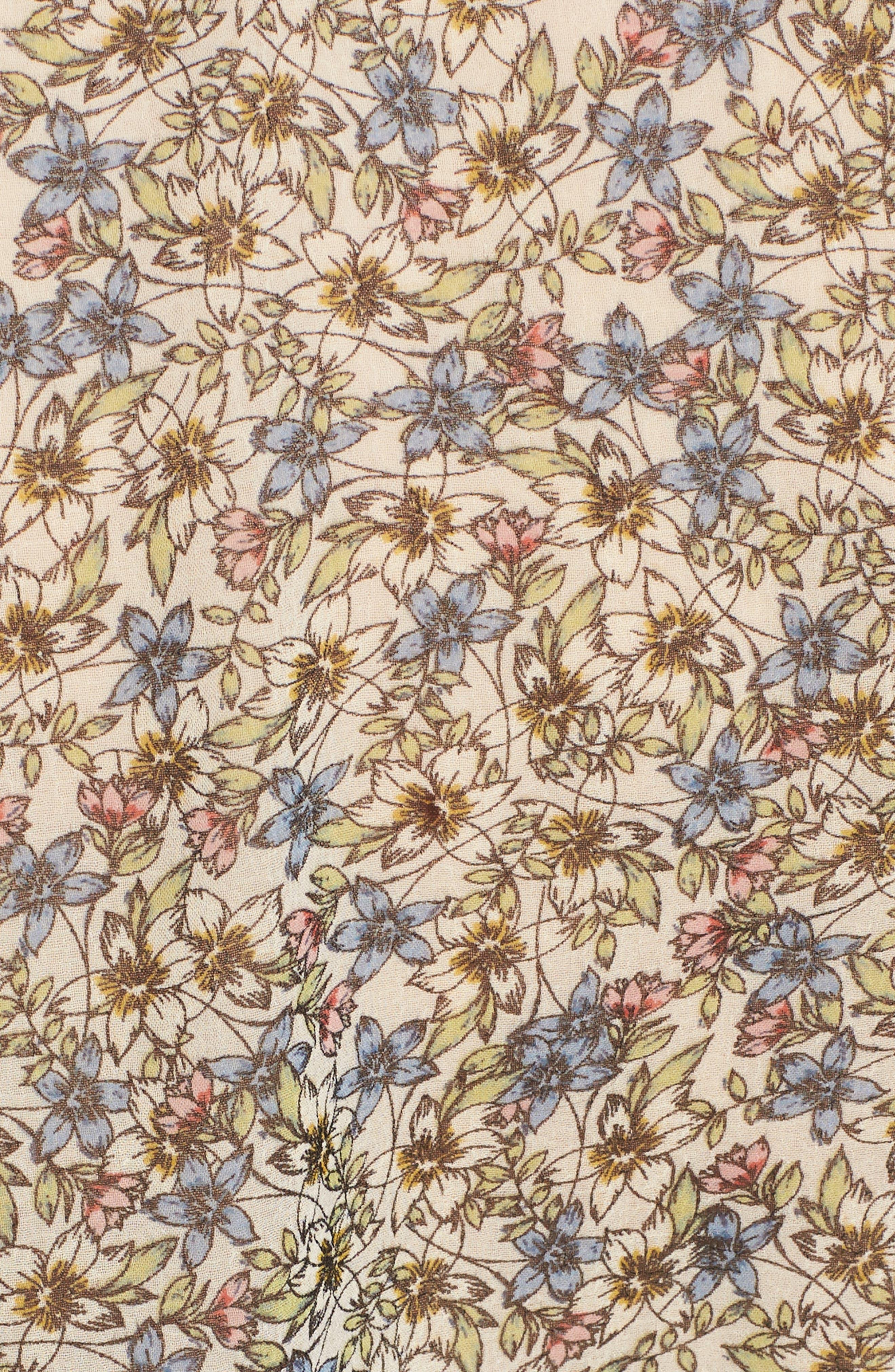 Zilla Floral Blouse,                             Alternate thumbnail 6, color,                             OATMEAL
