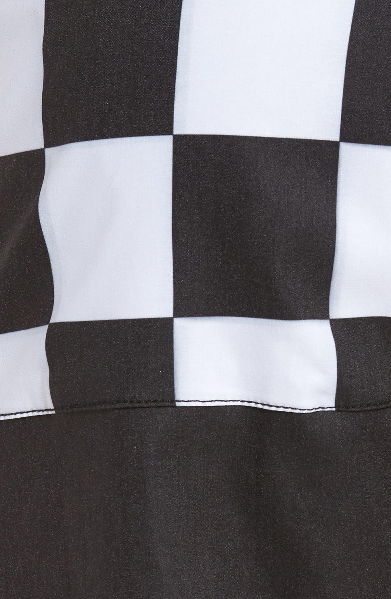 Checkered Board Shorts,                             Alternate thumbnail 5, color,                             001