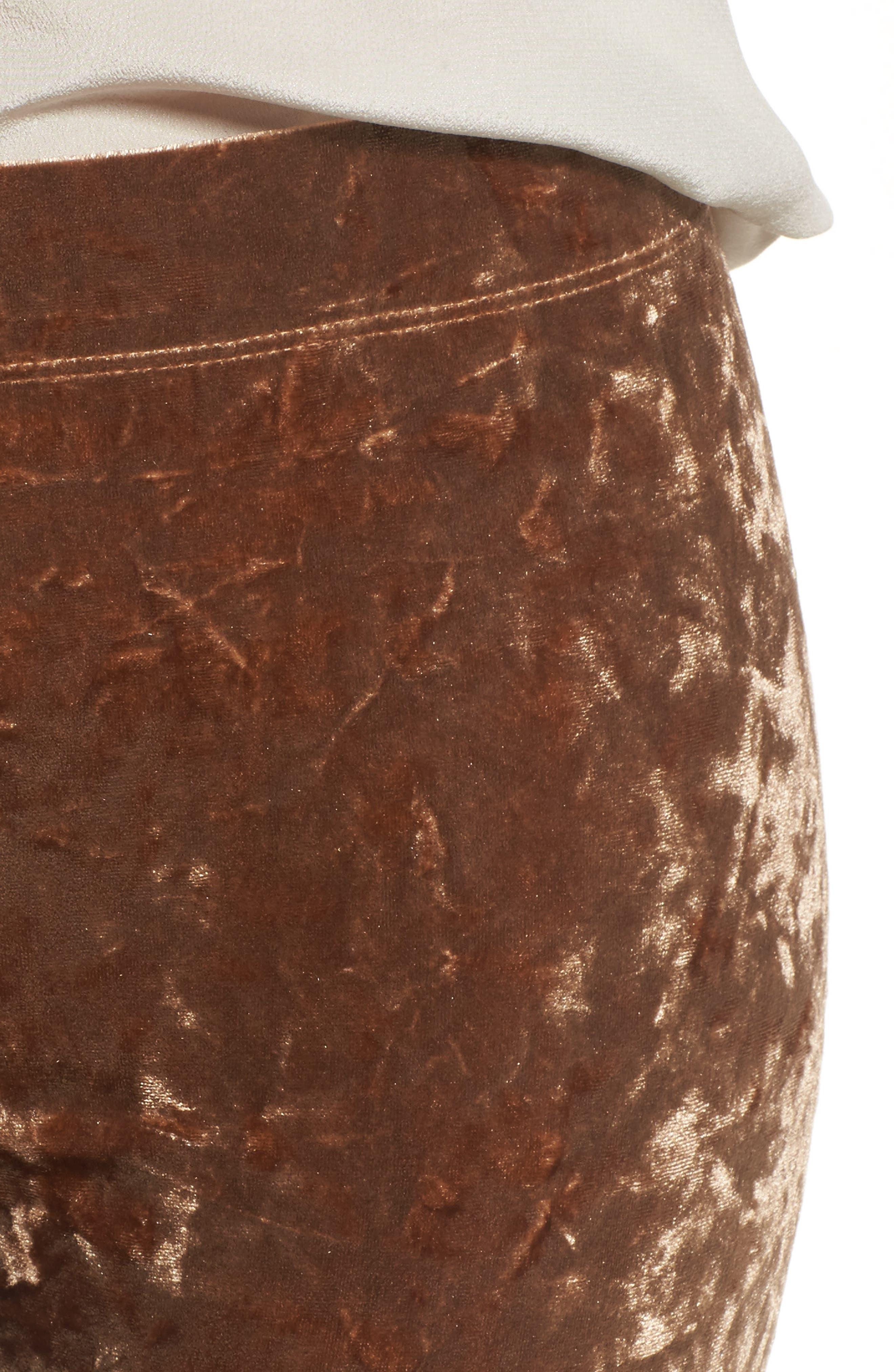 NORDSTROM,                             Velvet Leggings,                             Alternate thumbnail 4, color,                             710