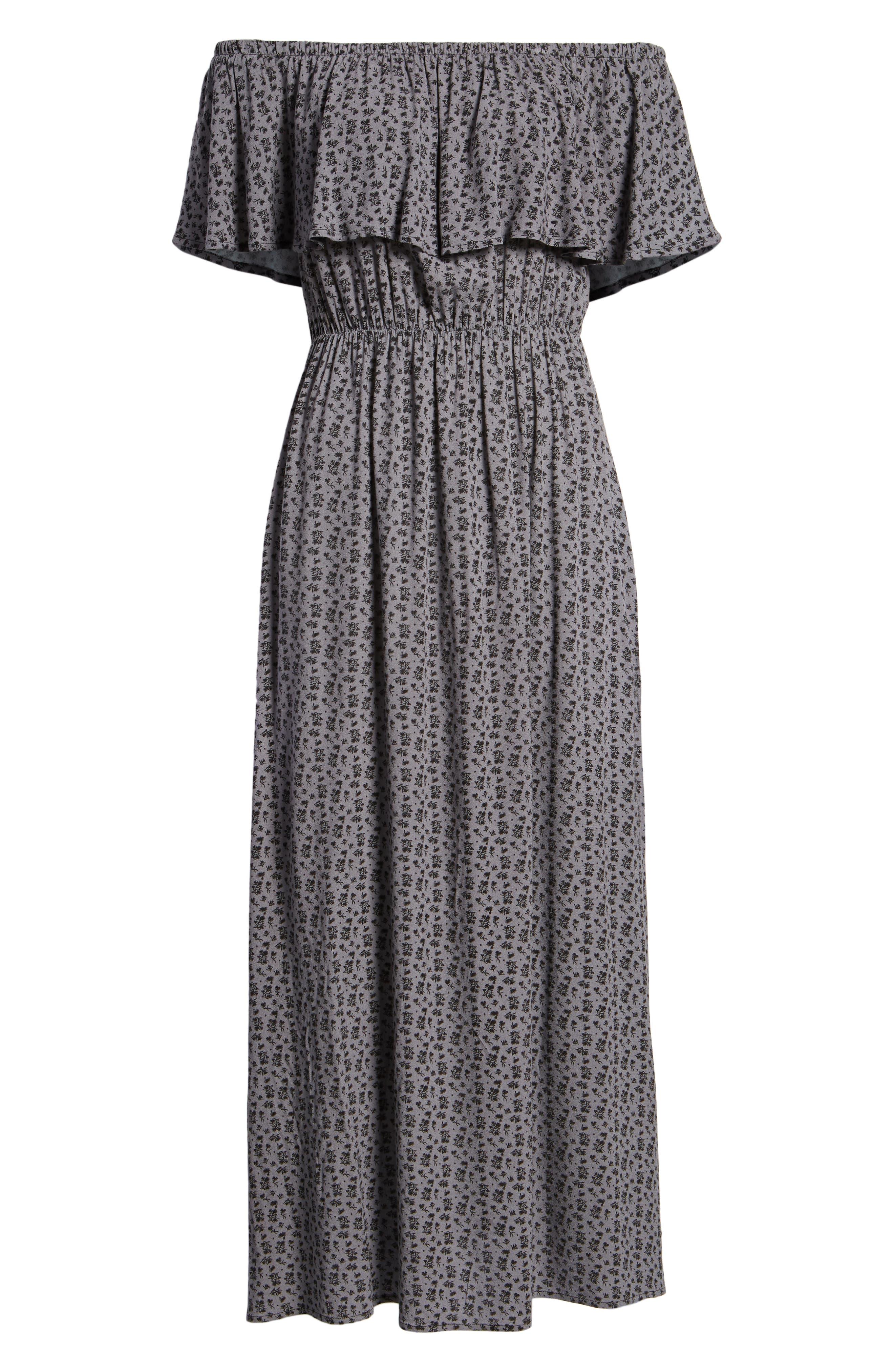 LIRA CLOTHING,                             Marissa Floral Print Off the Shoulder Dress,                             Alternate thumbnail 7, color,                             250