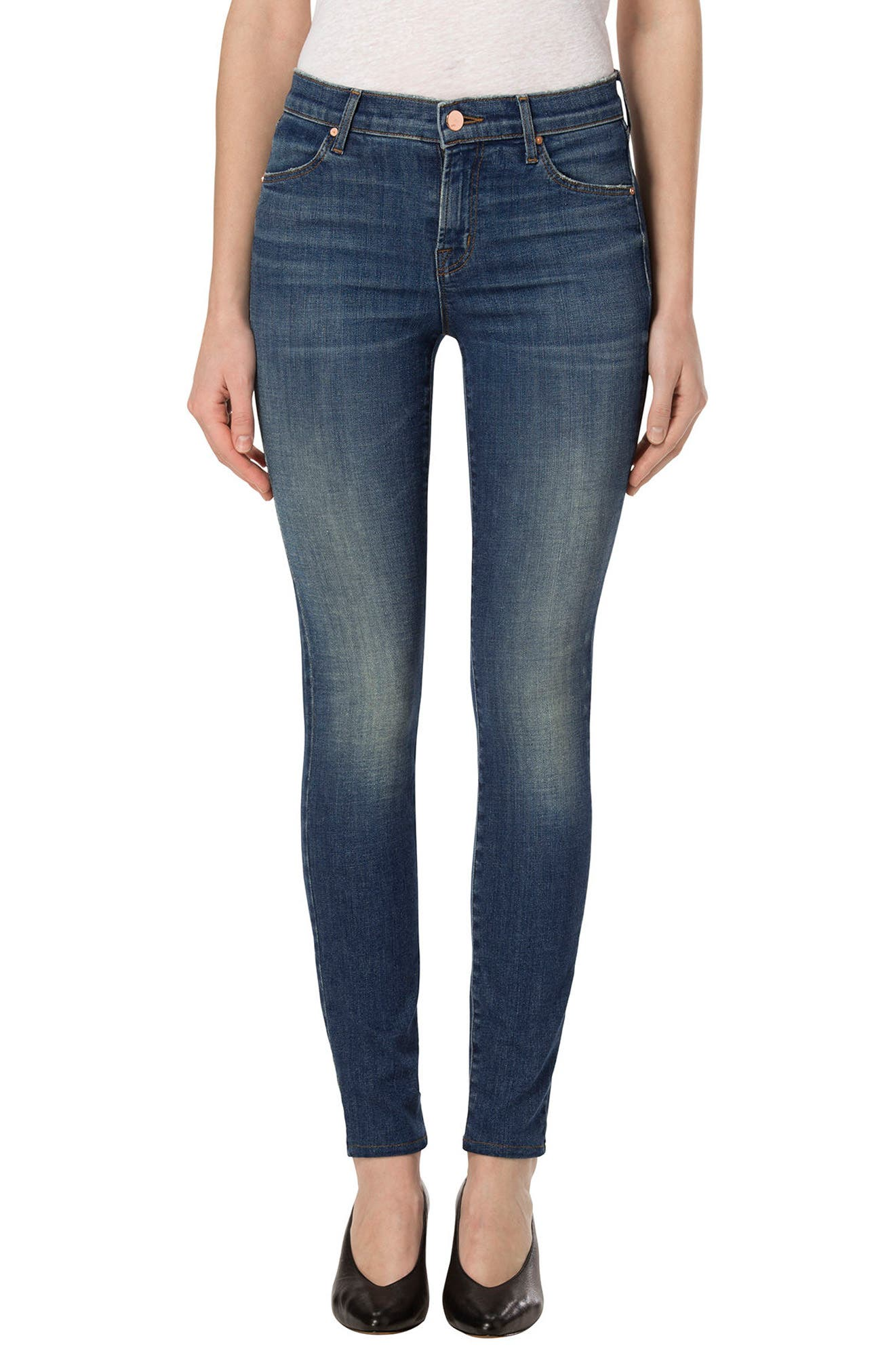 J BRAND,                             'Maria' High Rise Skinny Jeans,                             Main thumbnail 1, color,                             425