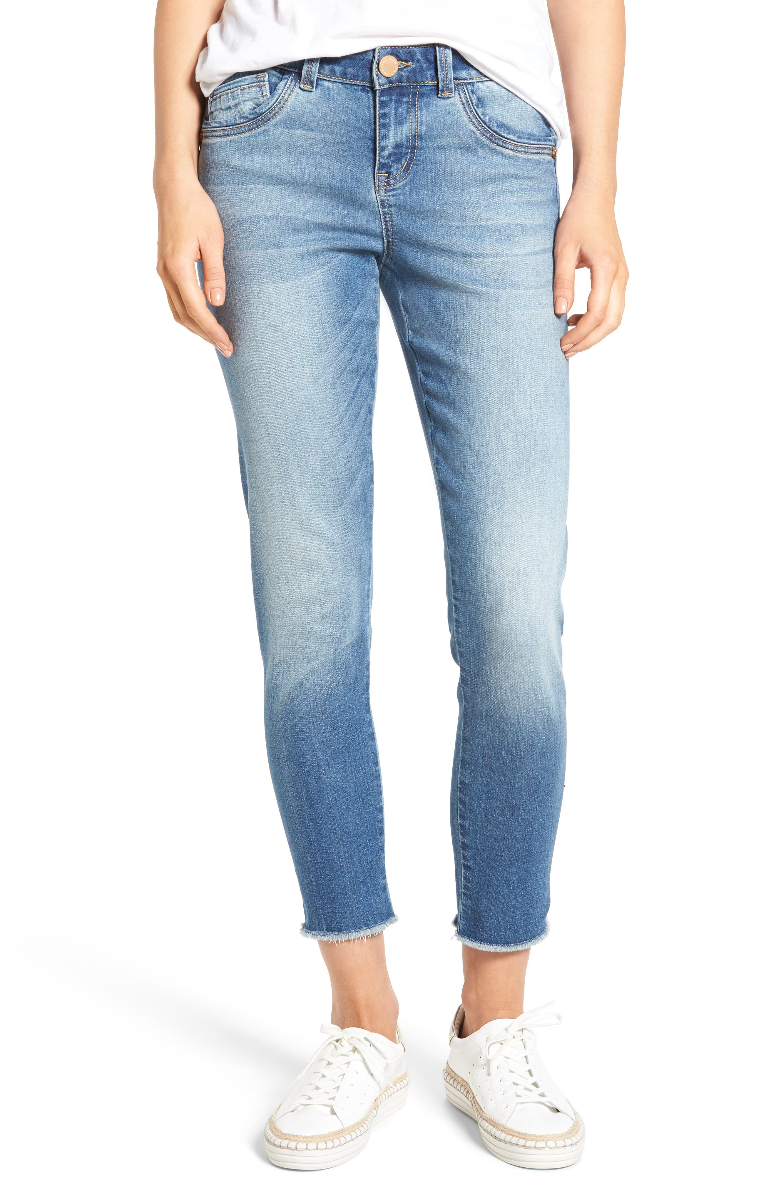 Seamless Ankle Skimmer Jeans (Regular & Petite),                         Main,                         color,
