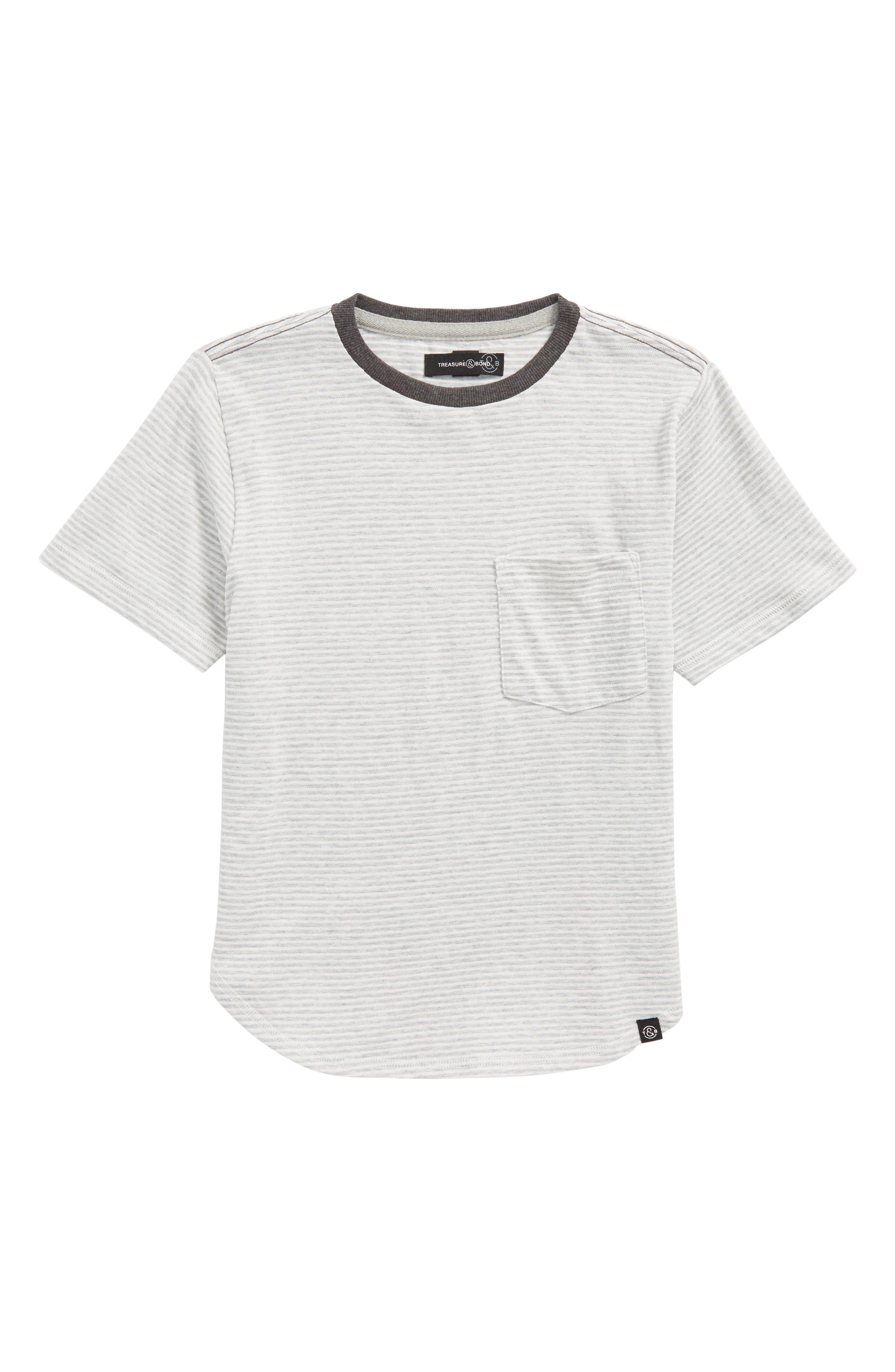 Stripe Pocket T-Shirt,                         Main,                         color, 030