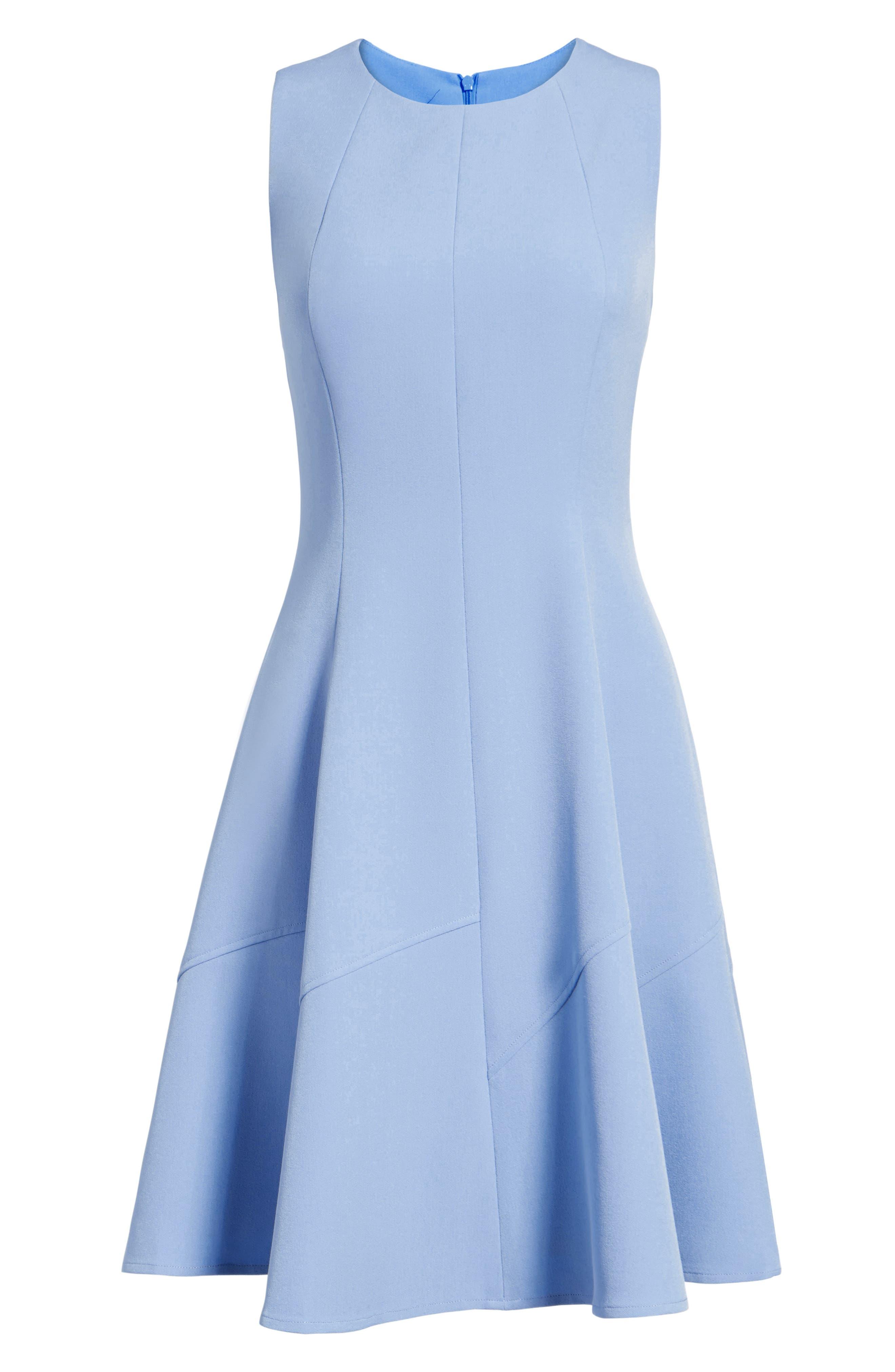 Fit & Flare Dress,                             Alternate thumbnail 7, color,                             430