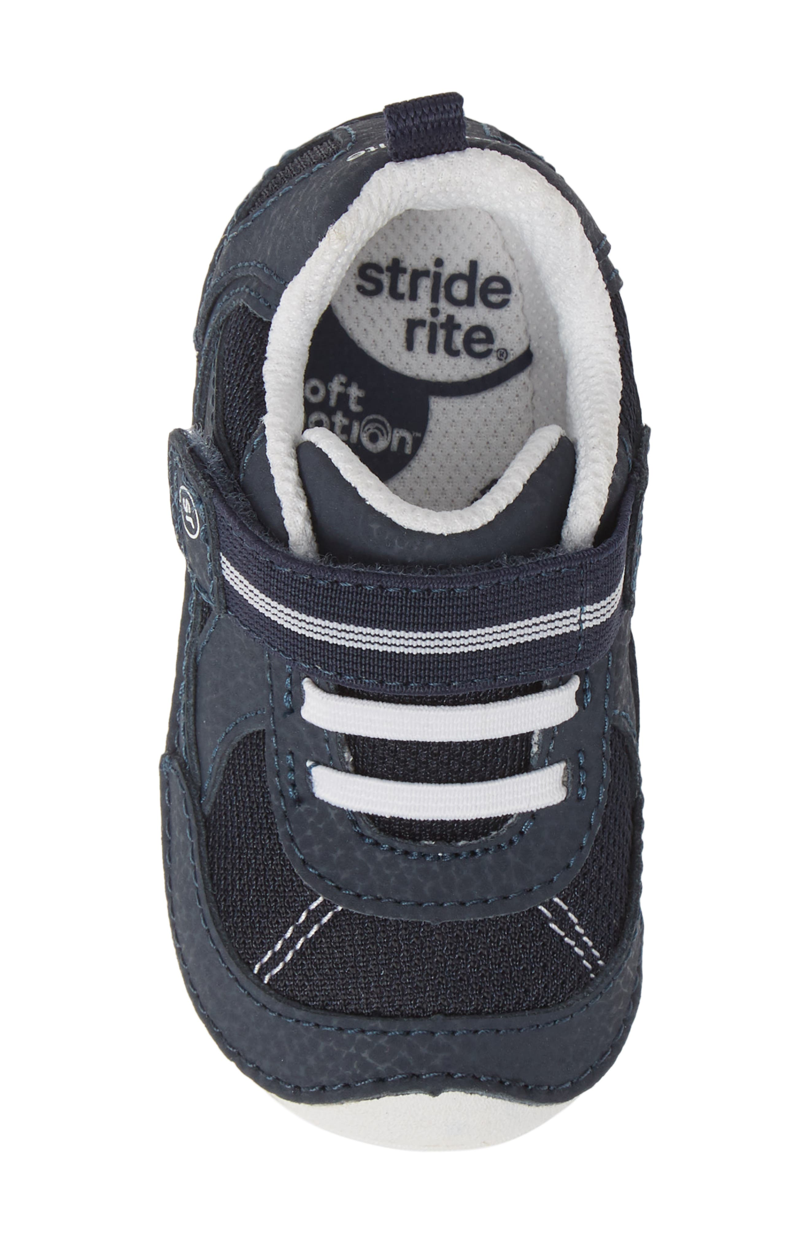 STRIDE RITE,                             Soft Motion<sup>™</sup> Jamie Sneaker,                             Alternate thumbnail 5, color,                             NAVY/ WHITE
