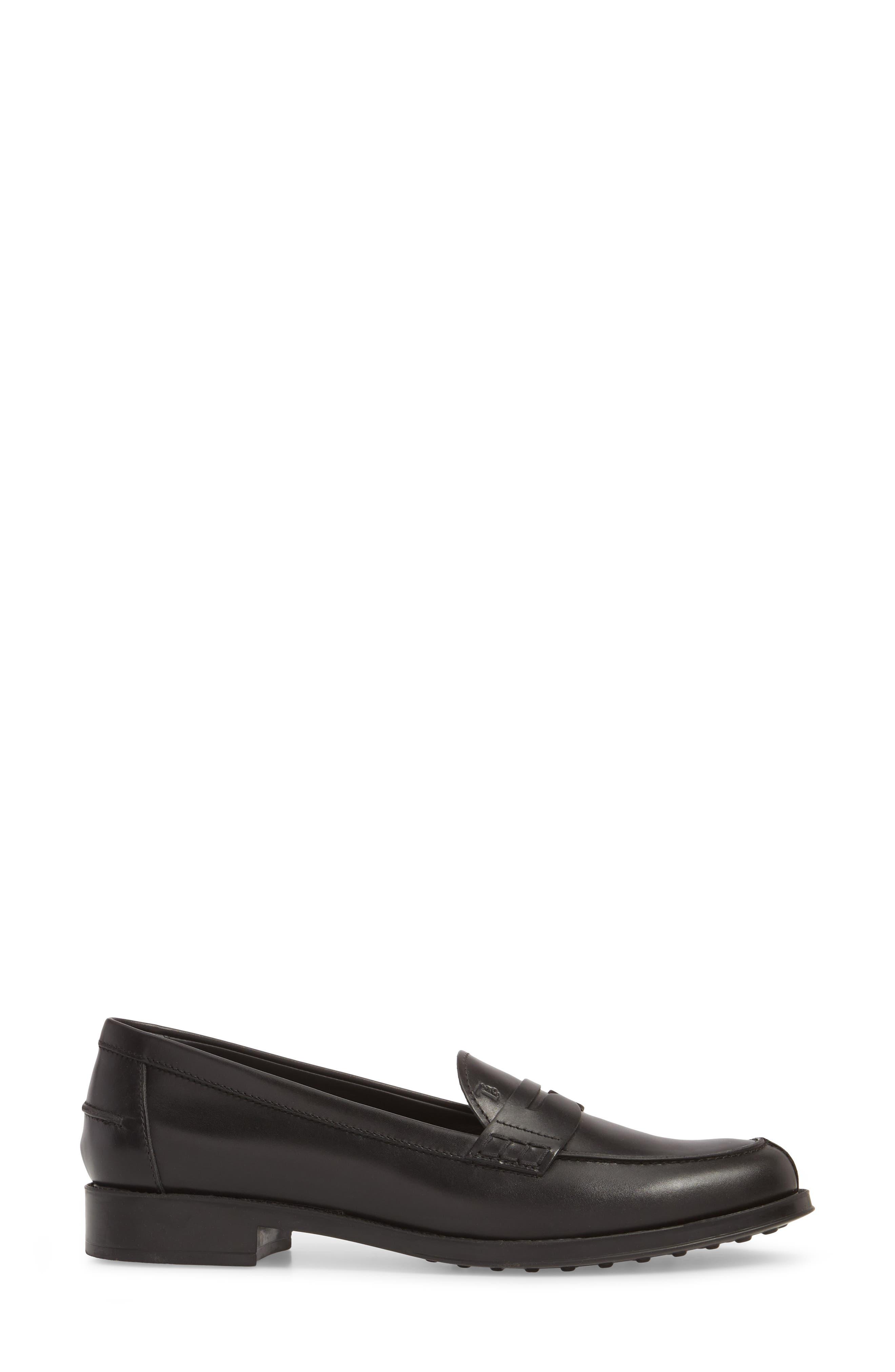 Penny Loafer,                             Alternate thumbnail 3, color,                             BLACK