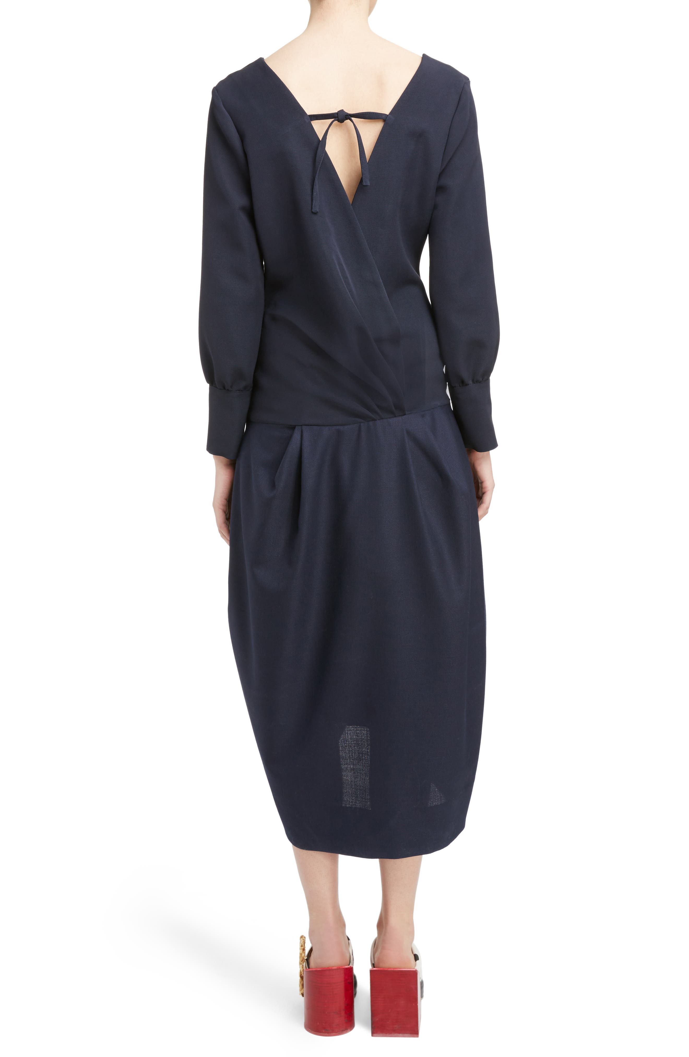 Ruched Long Sleeve Dress,                             Alternate thumbnail 2, color,                             410