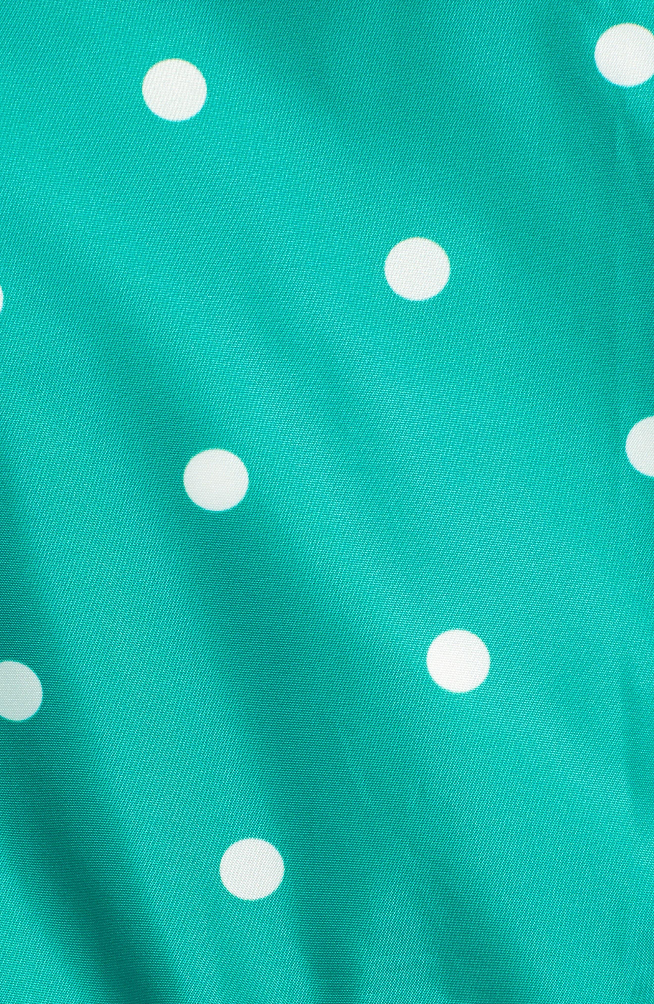 Go Lightly Waterproof Pack Away Hooded Jacket,                             Alternate thumbnail 7, color,                             GREEN SPOT