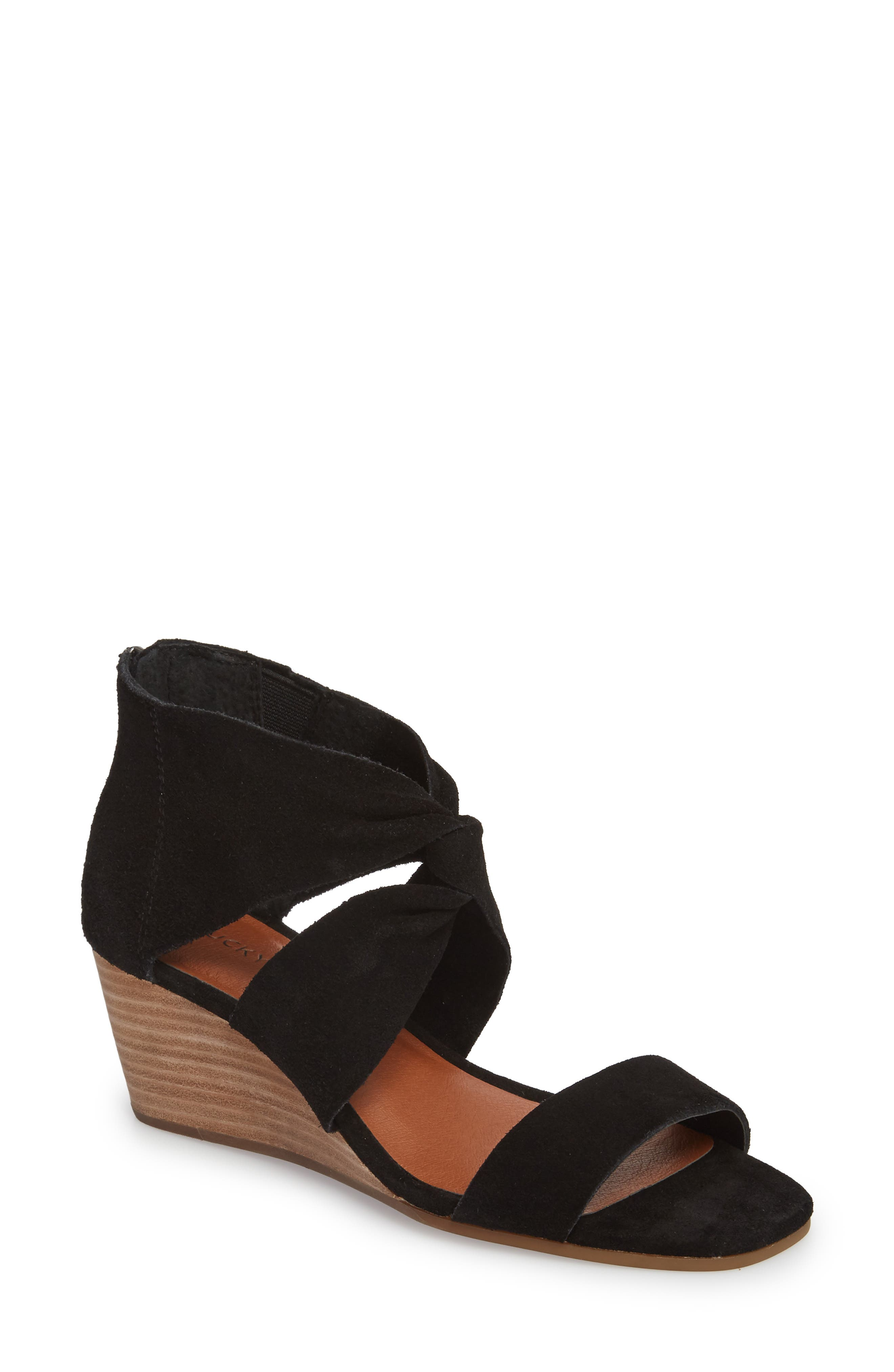 LUCKY BRAND Tammanee Wedge Sandal, Main, color, 001