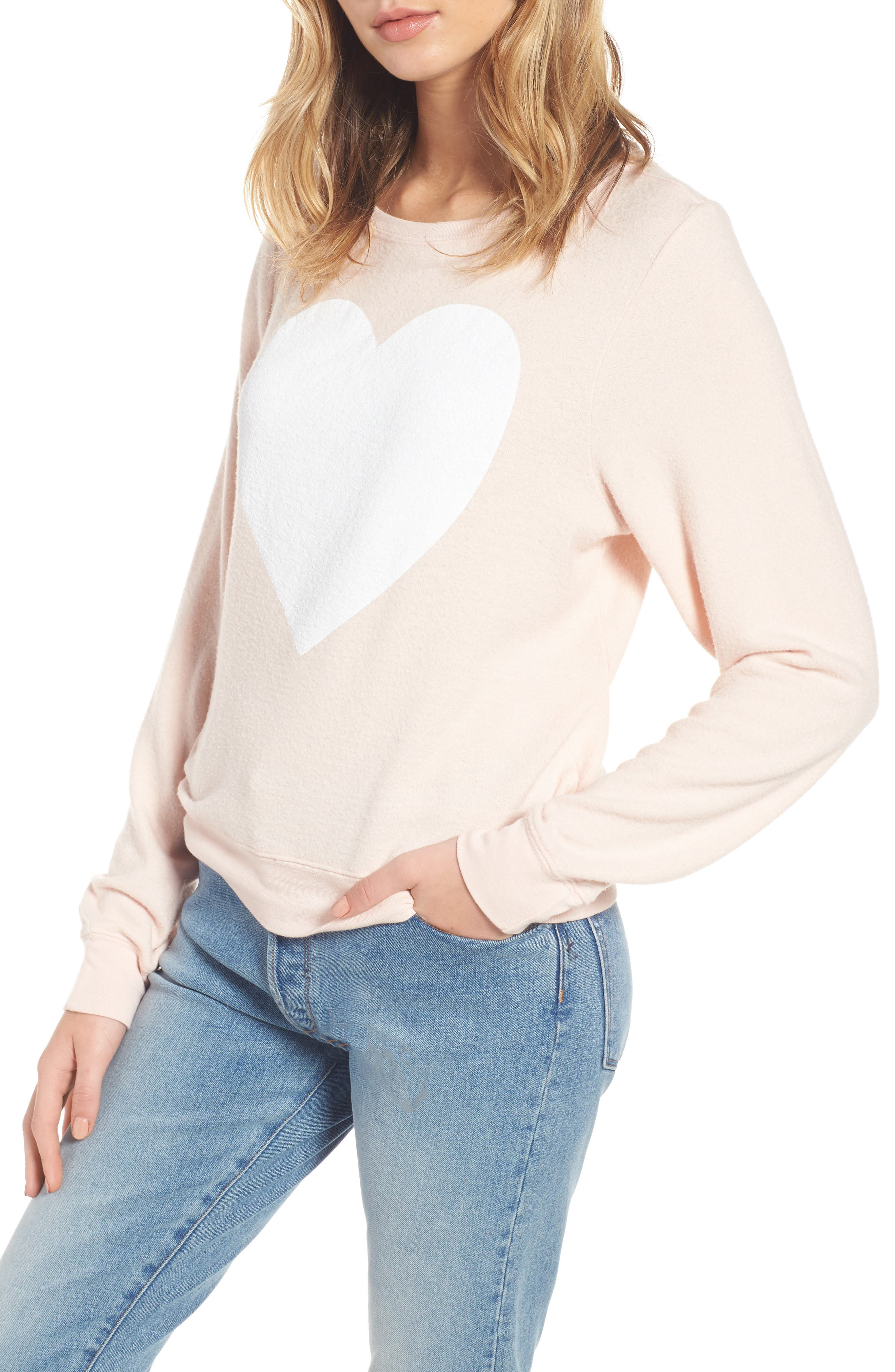 Heart Sweatshirt, Main, color, 650