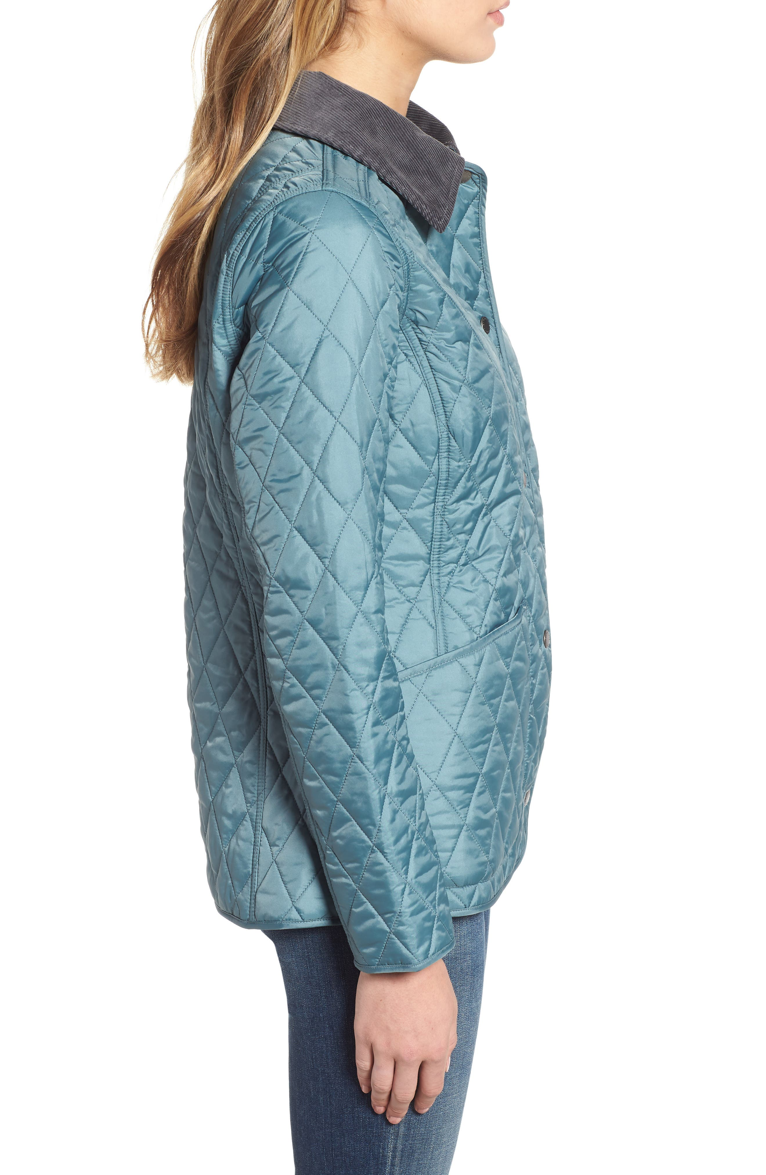 Annandale Quilted Jacket,                             Alternate thumbnail 3, color,                             EUCALYPTUS