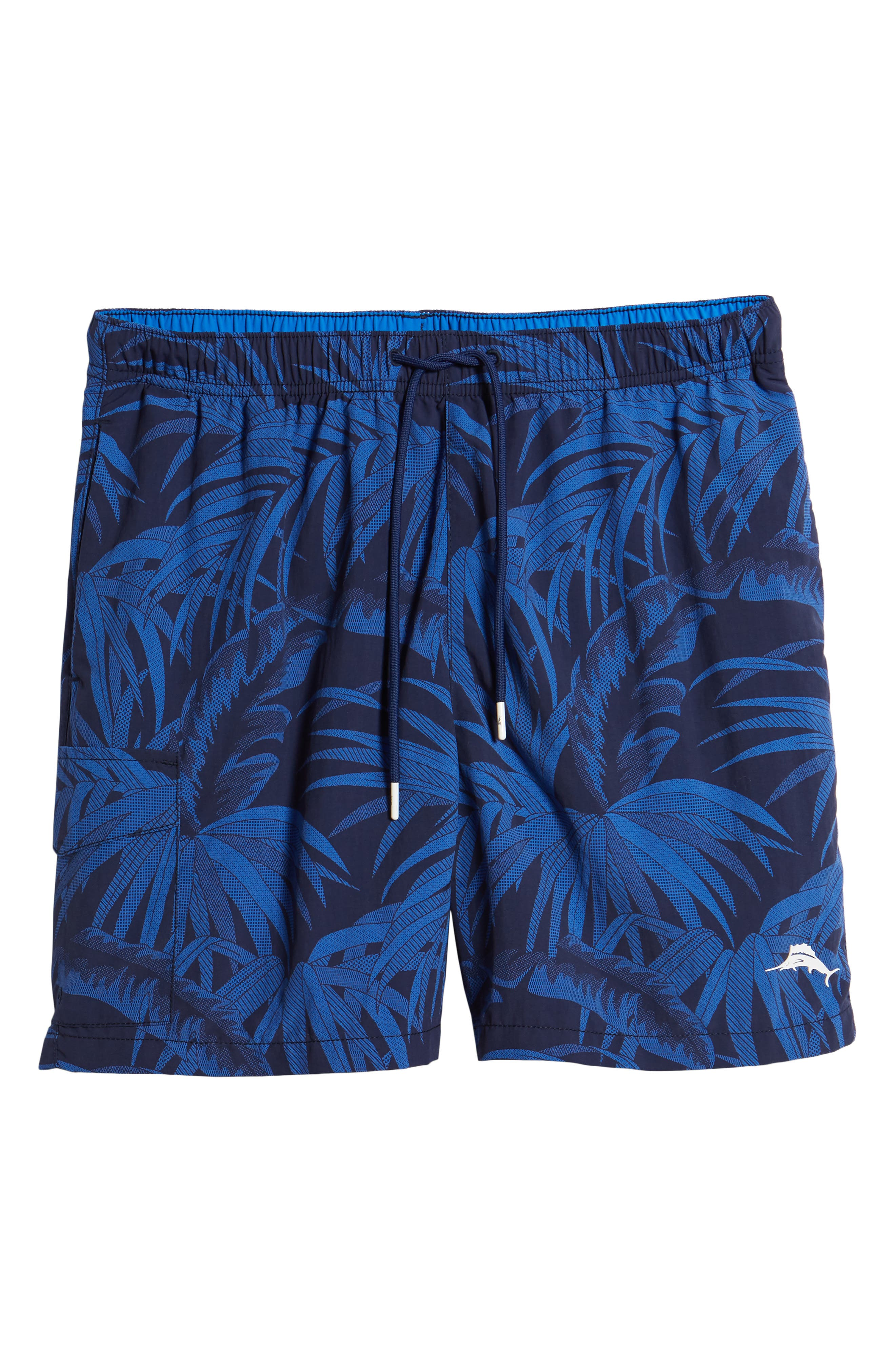 Naples Midnight Flora Swim Trunks,                             Alternate thumbnail 6, color,                             400