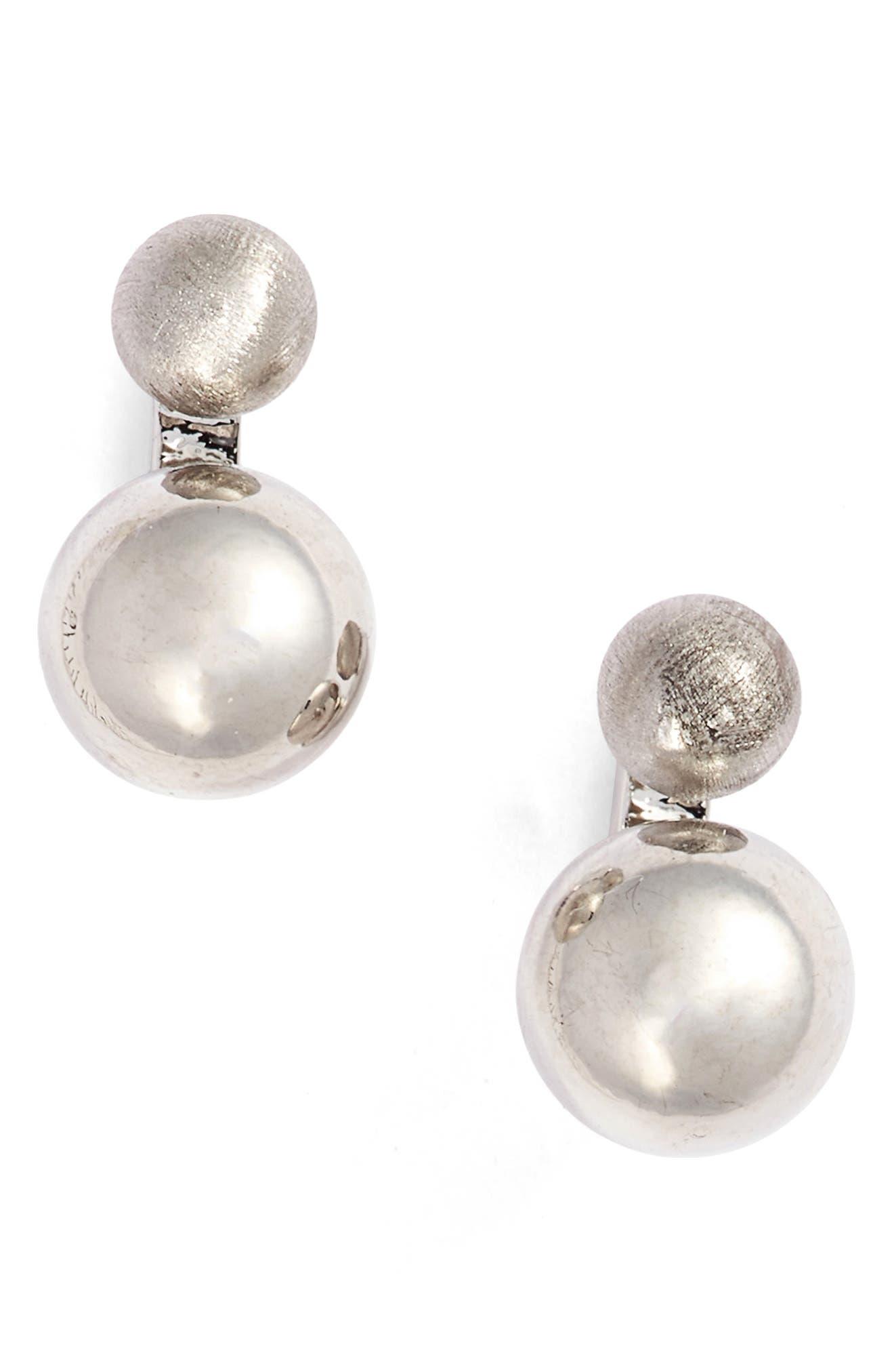 Double Sphere Stud Earrings,                             Main thumbnail 1, color,                             040