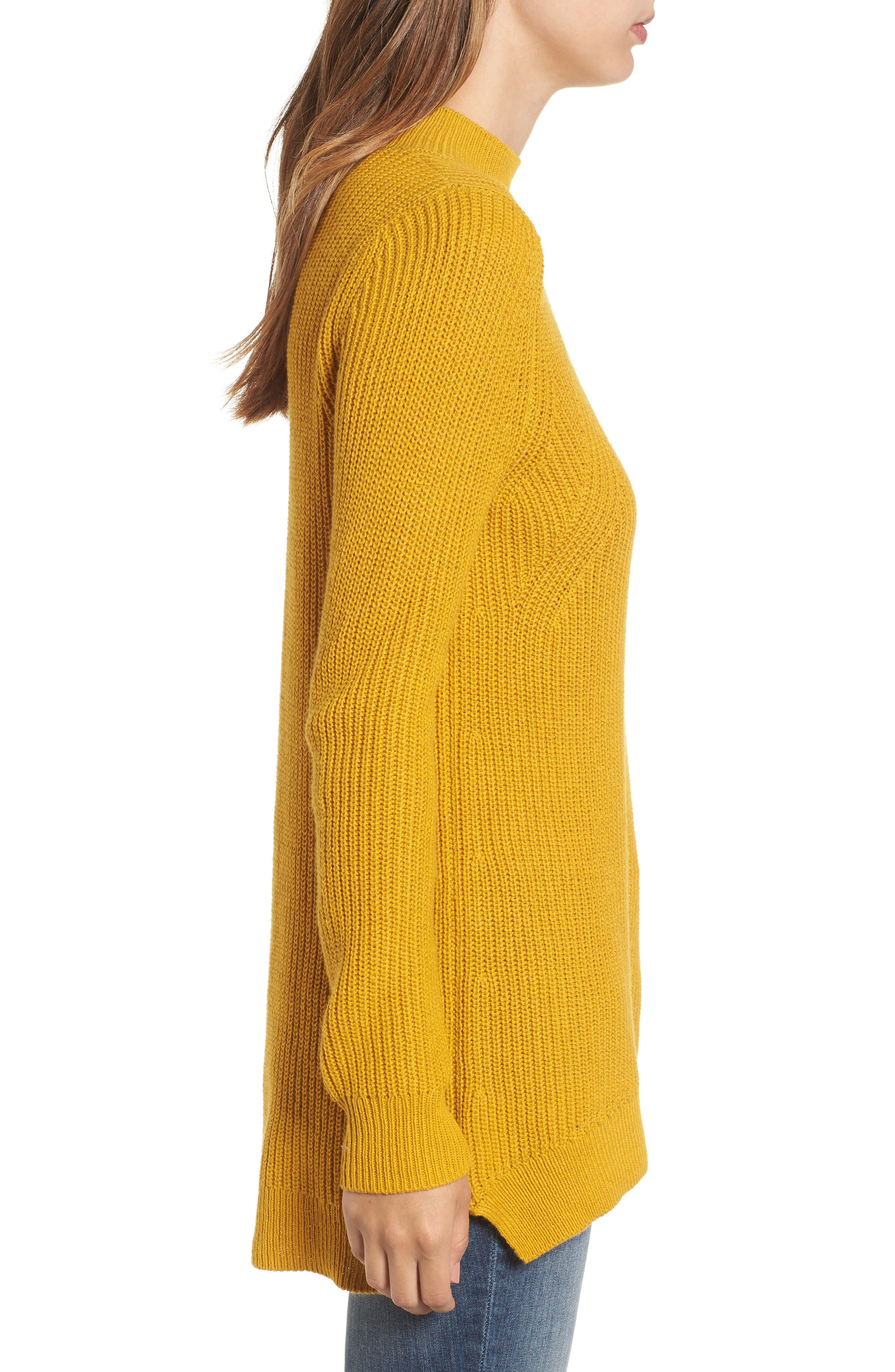 Mock Neck Tunic Sweater,                             Alternate thumbnail 19, color,