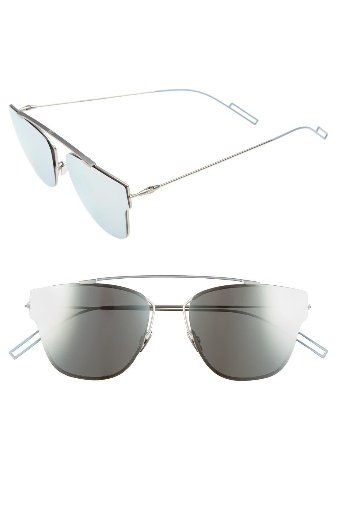 57mm Semi Rimless Sunglasses,                             Main thumbnail 1, color,                             020