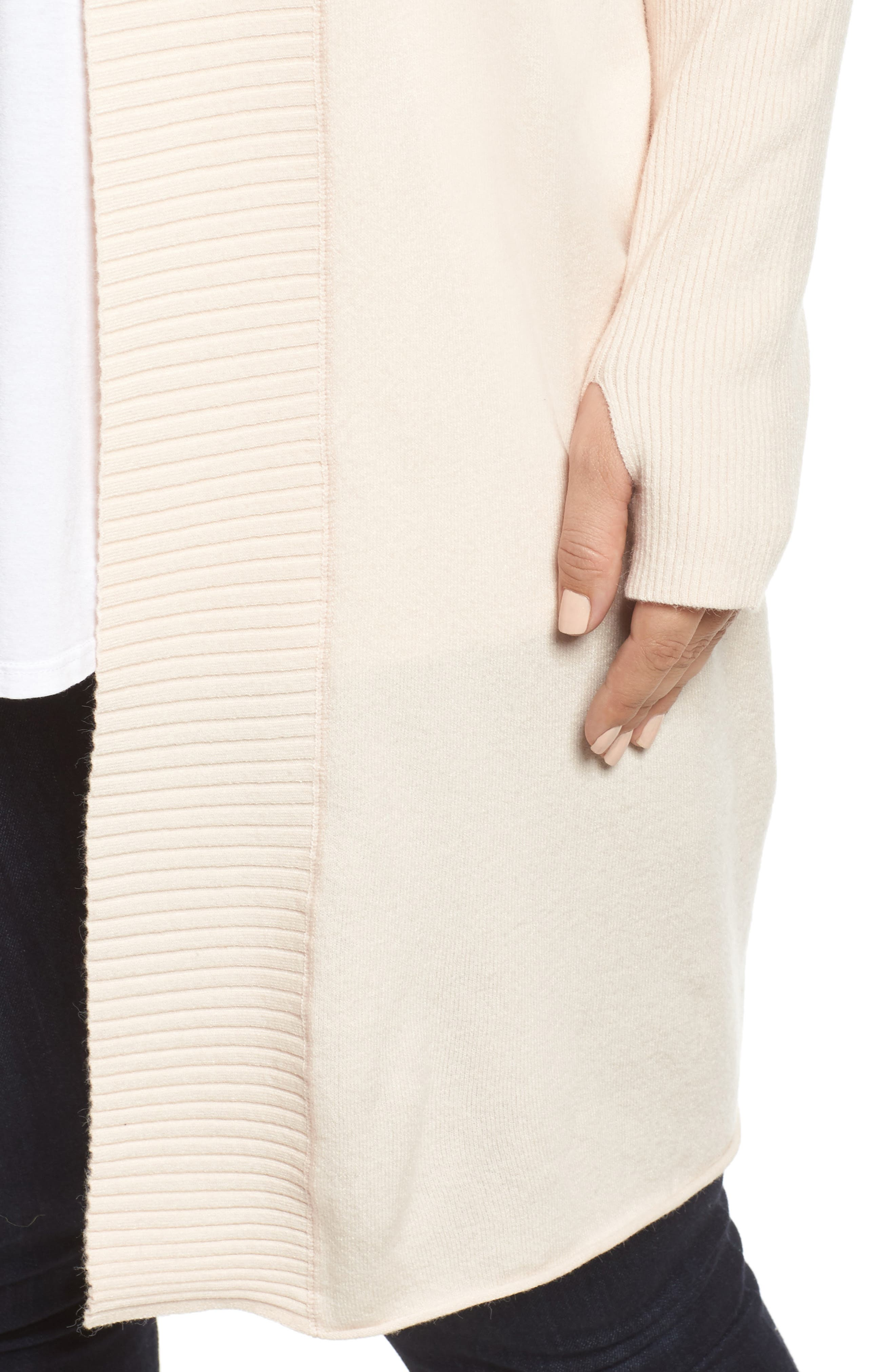Off-Duty Long Open Front Cardigan,                             Alternate thumbnail 12, color,