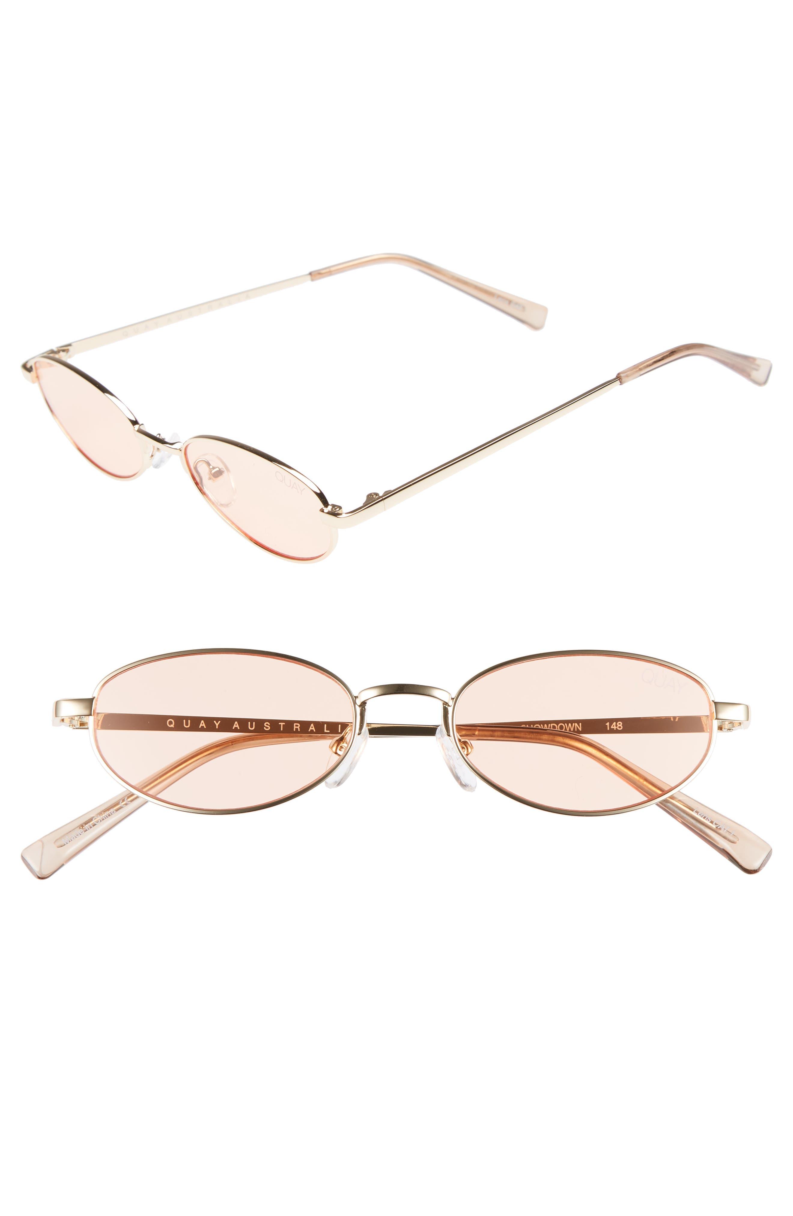 49mm Showdown Oval Sunglasses,                         Main,                         color, GOLD
