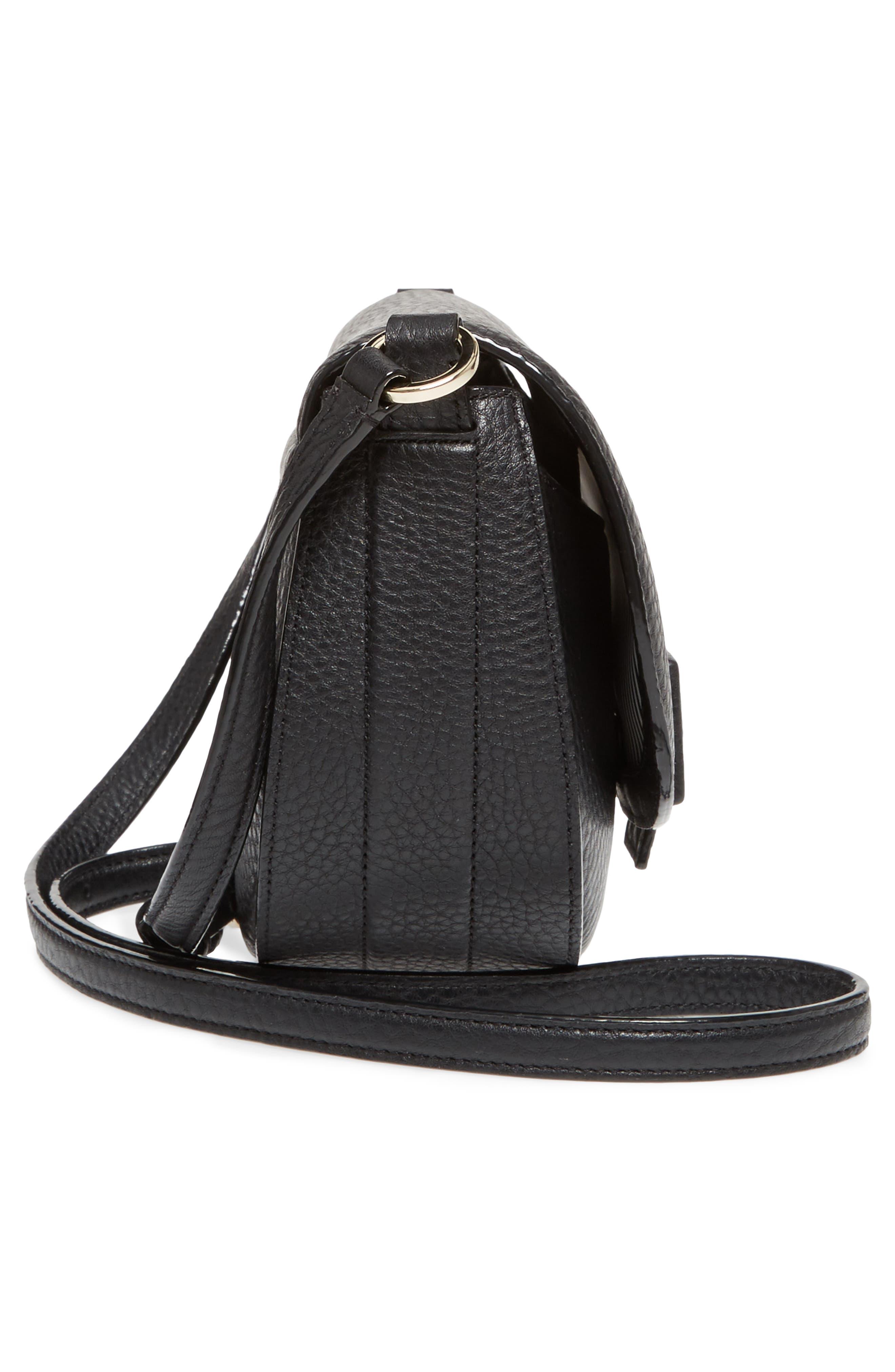 carlyle street - kallie leather saddle bag,                             Alternate thumbnail 13, color,