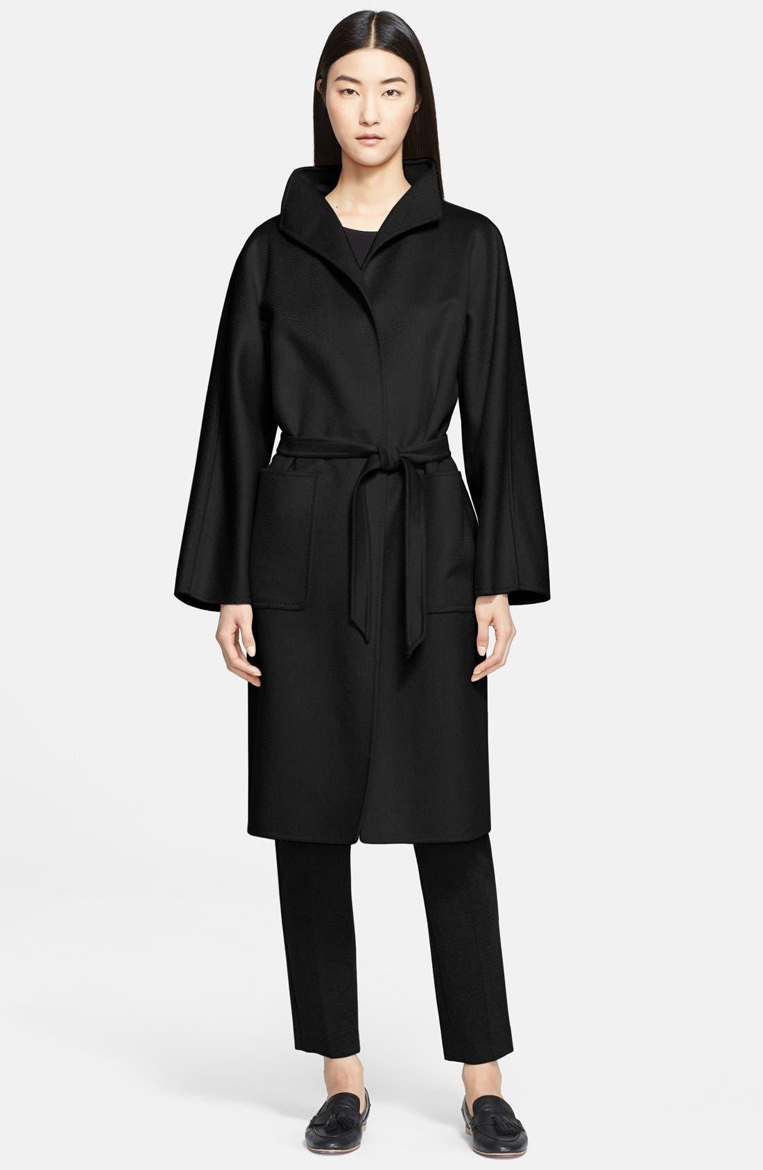 MAX MARA 'Lilia' Belted Cashmere Coat, Main, color, 001